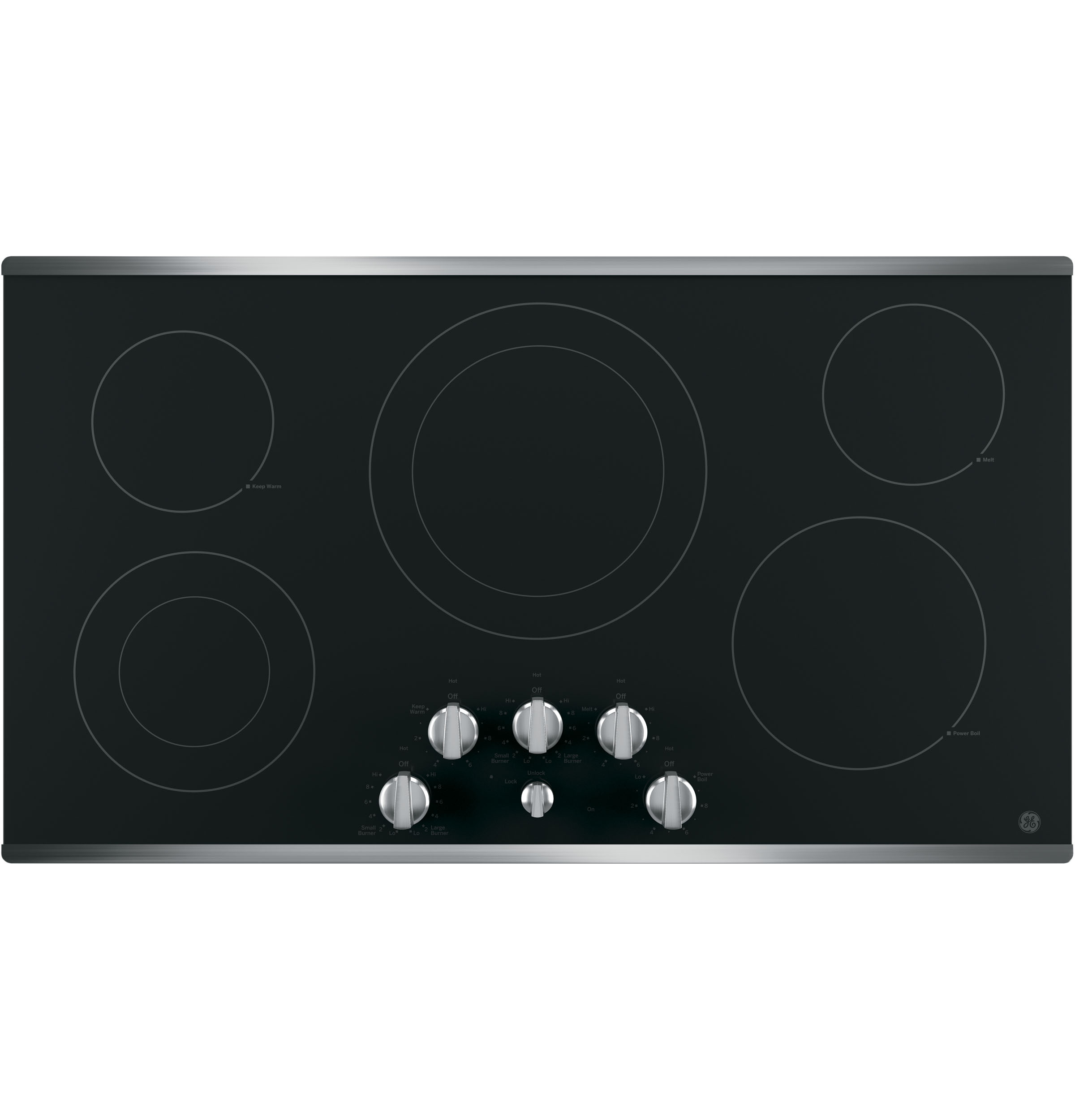 "GE GE® 36"" Built-In Knob Control Electric Cooktop"
