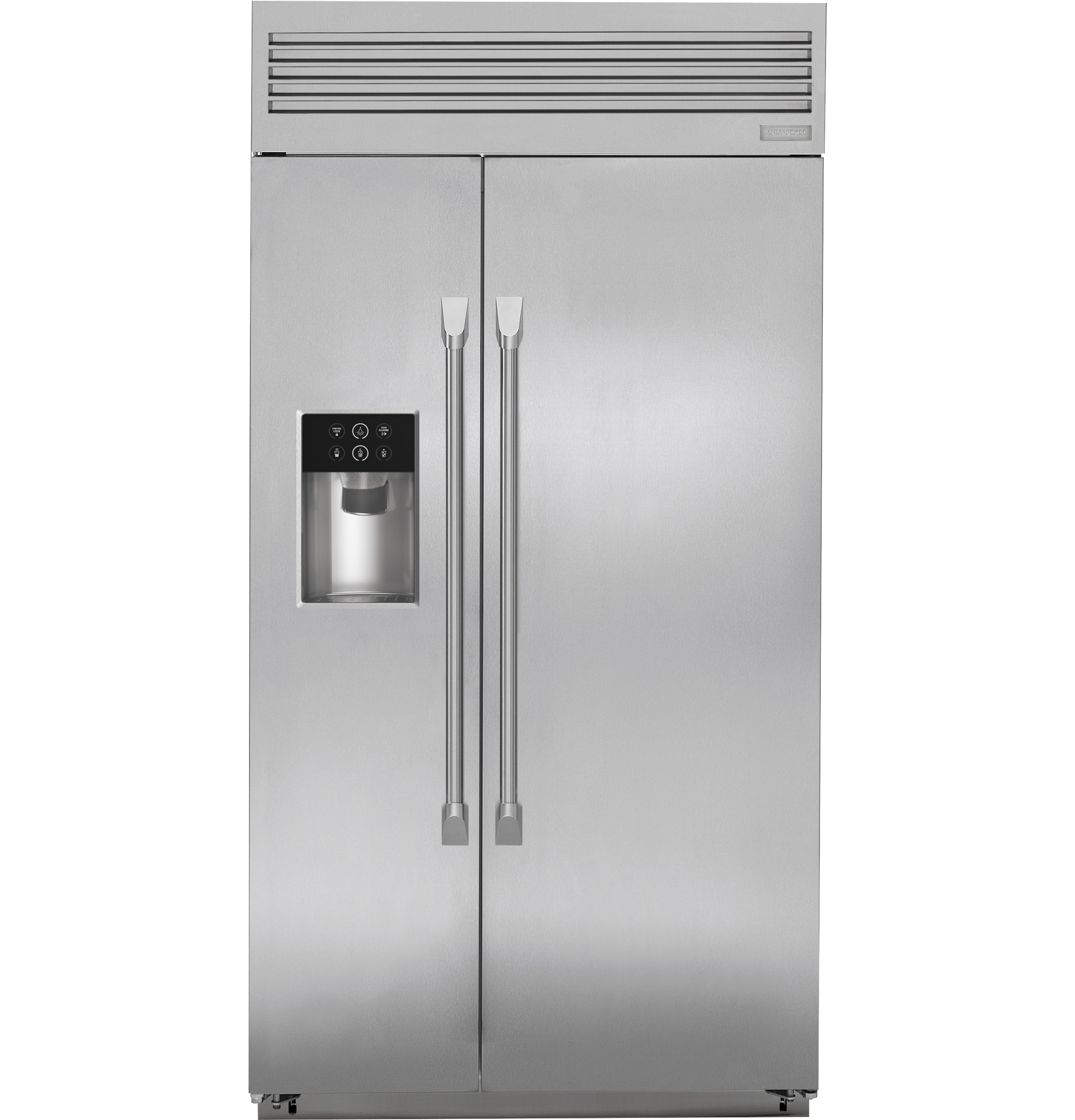 "Monogram Monogram 42"" Smart Built-In Professional Side-by-Side Refrigerator with Dispenser"
