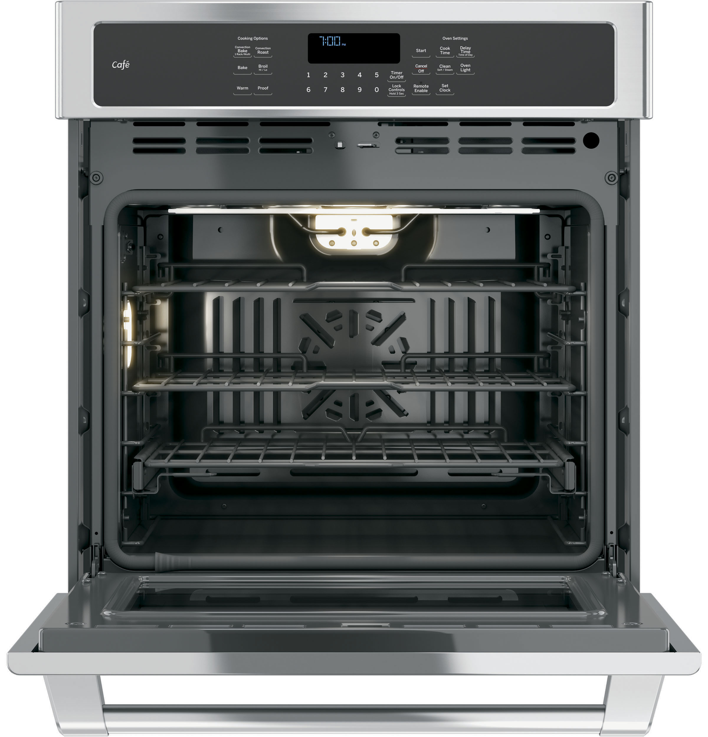 "Model: CK7000SHSS | GE Cafe GE Café™ Series 27"" Built-In Single Convection Wall Oven"