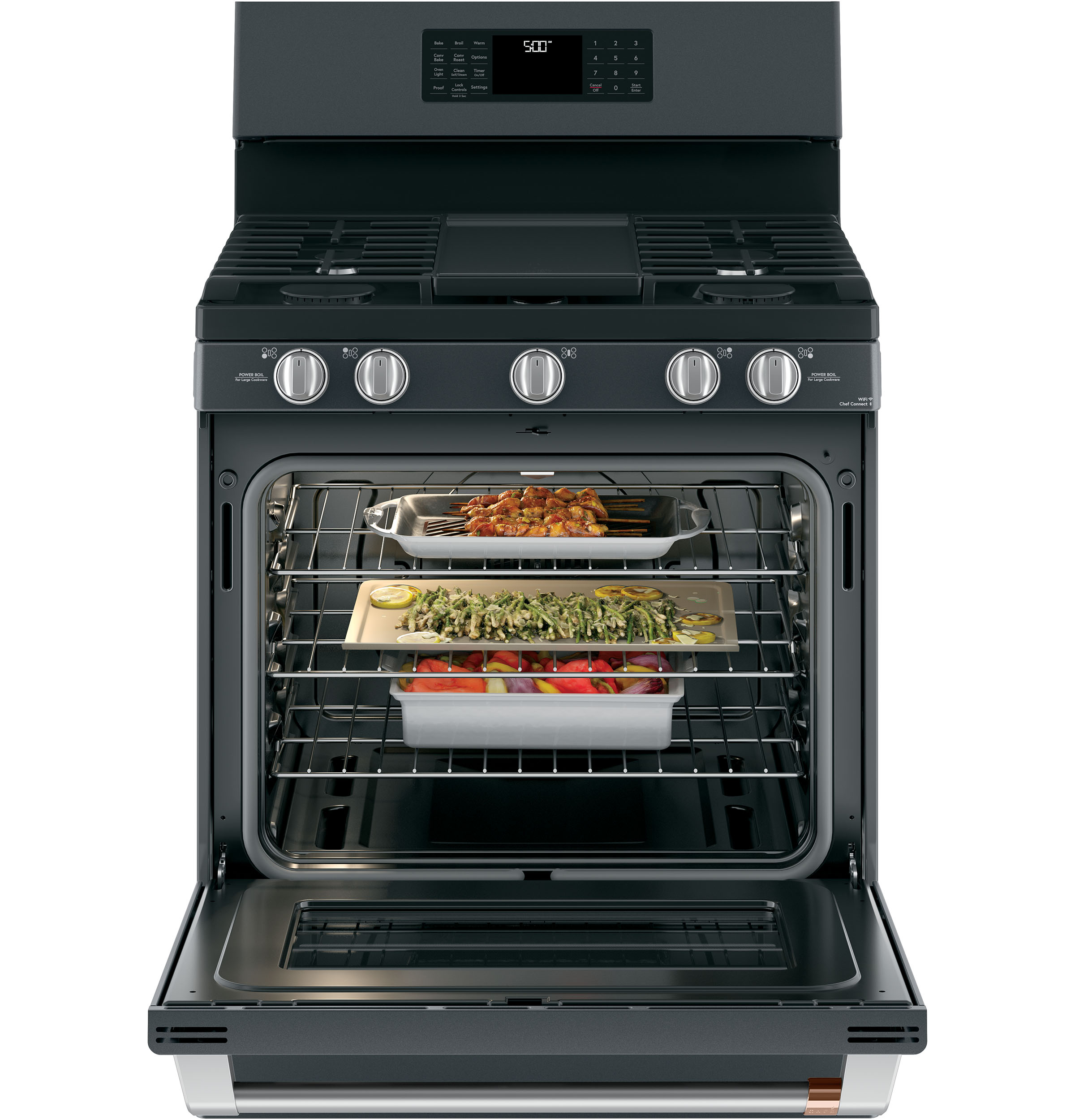 "Model: CGB500P3MD1 | Cafe Café™ 30"" Smart Free-Standing Gas Range with Convection"