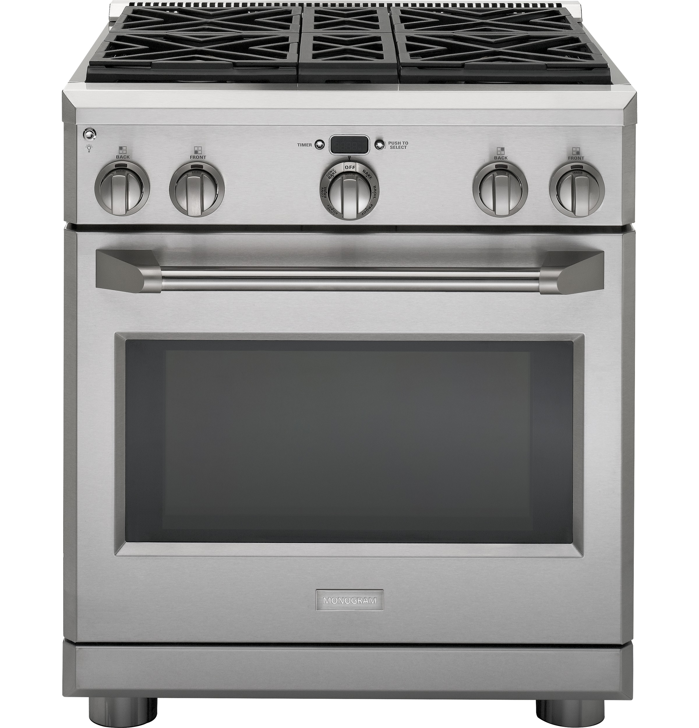 "Monogram Monogram 30"" Dual-Fuel Professional Range with 4 Burners (Natural Gas)"