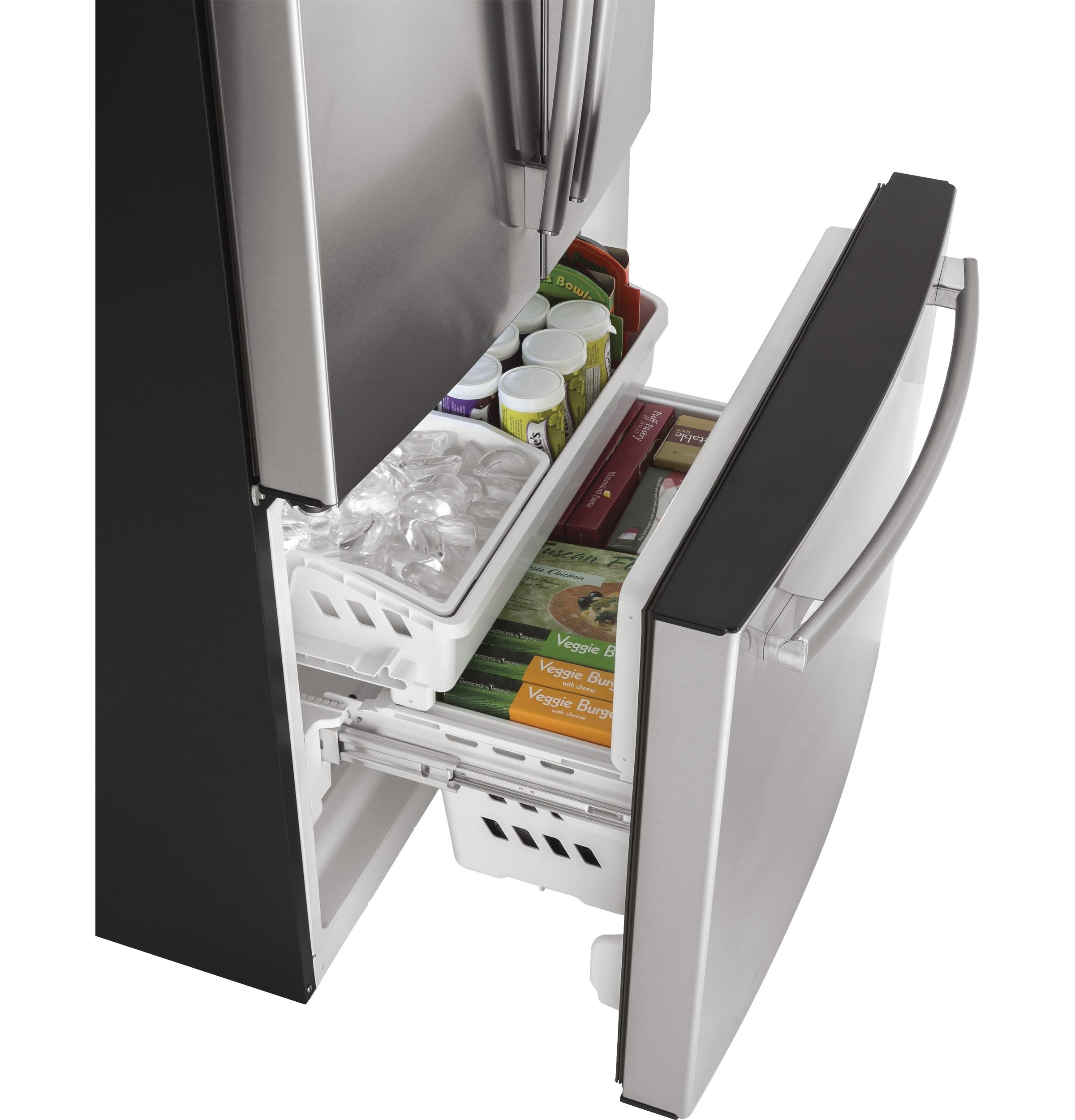 Model: GYE18JSLSS | GE® ENERGY STAR® 17.5 Cu. Ft. Counter-Depth French-Door Refrigerator