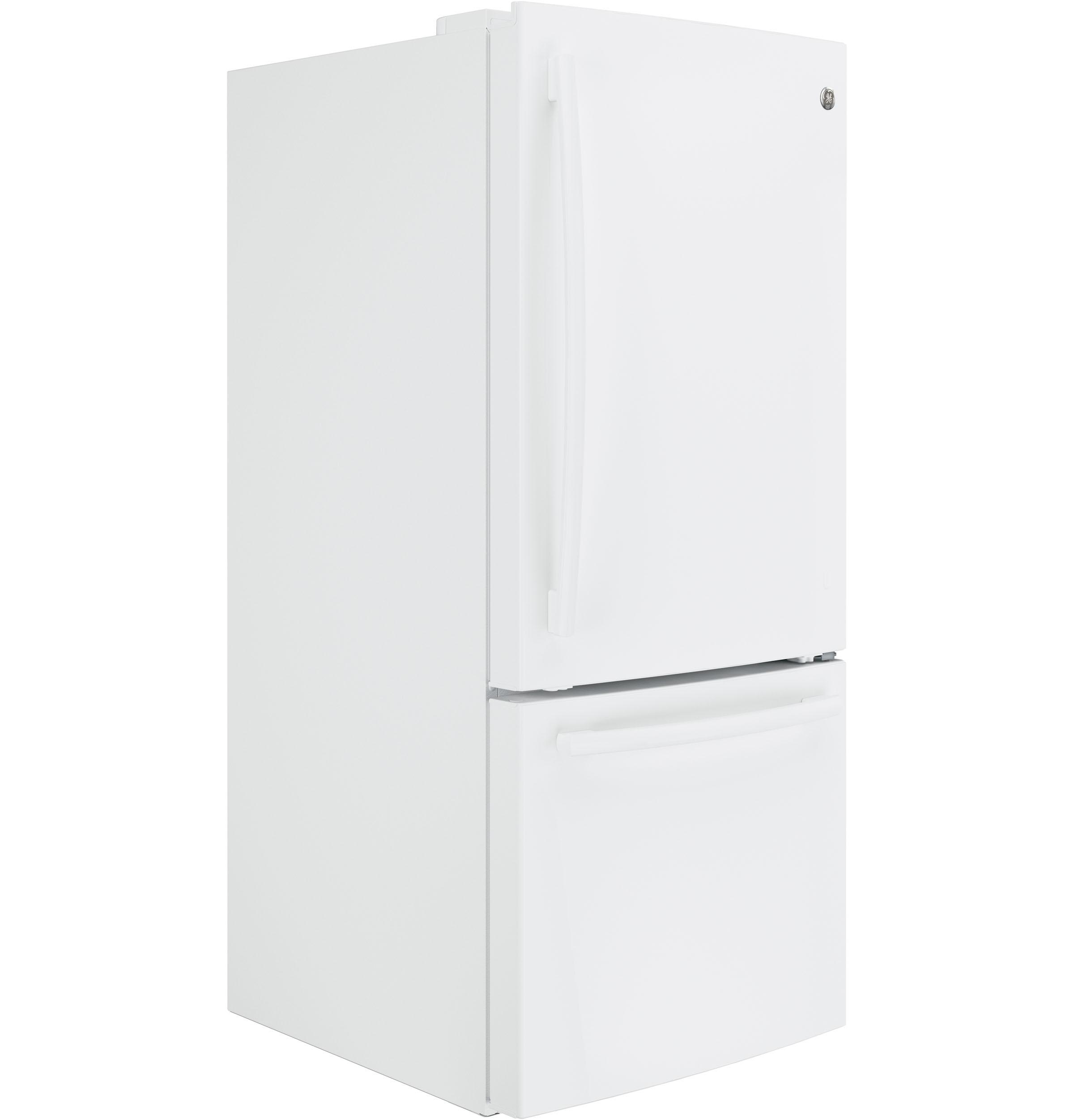 Model: GBE21DGKWW   GE GE® ENERGY STAR® 21.0 Cu. Ft. Bottom-Freezer Refrigerator