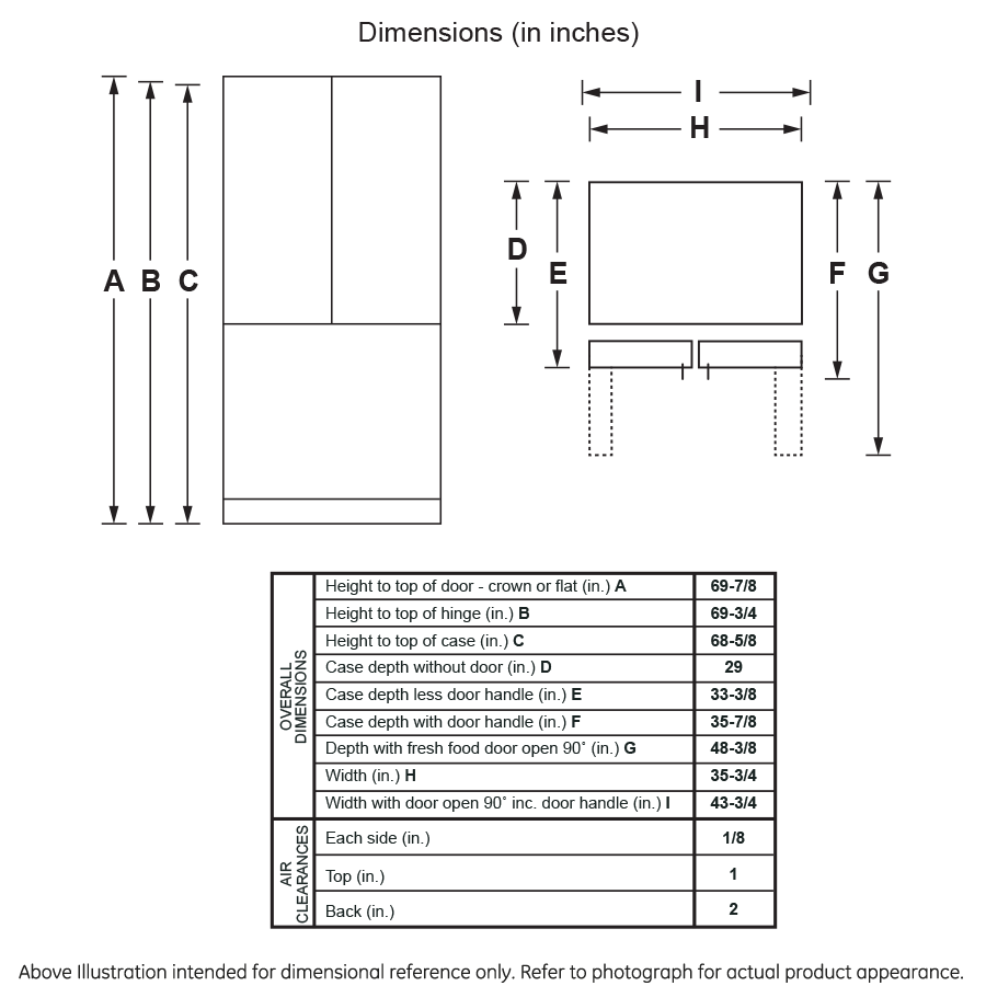 Model: GNE27JGMWW   GE GE® ENERGY STAR® 27.0 Cu. Ft. French-Door Refrigerator