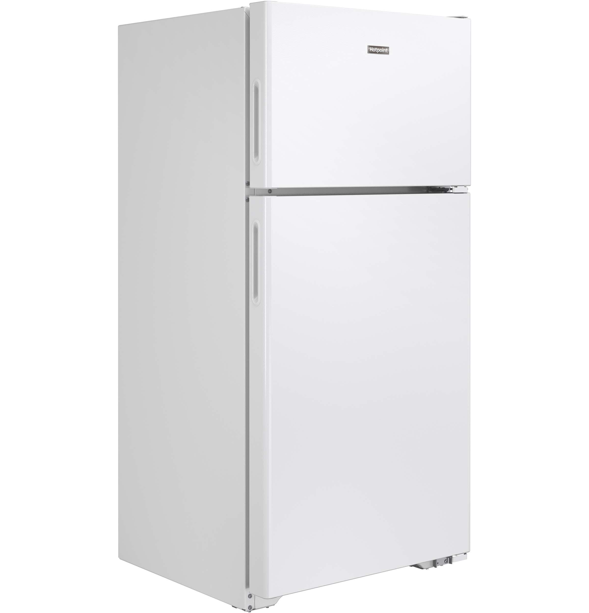 Model: HPS15BTHLWW | Hotpoint® 14.6 Cu. Ft. Recessed Handle Top-Freezer Refrigerator