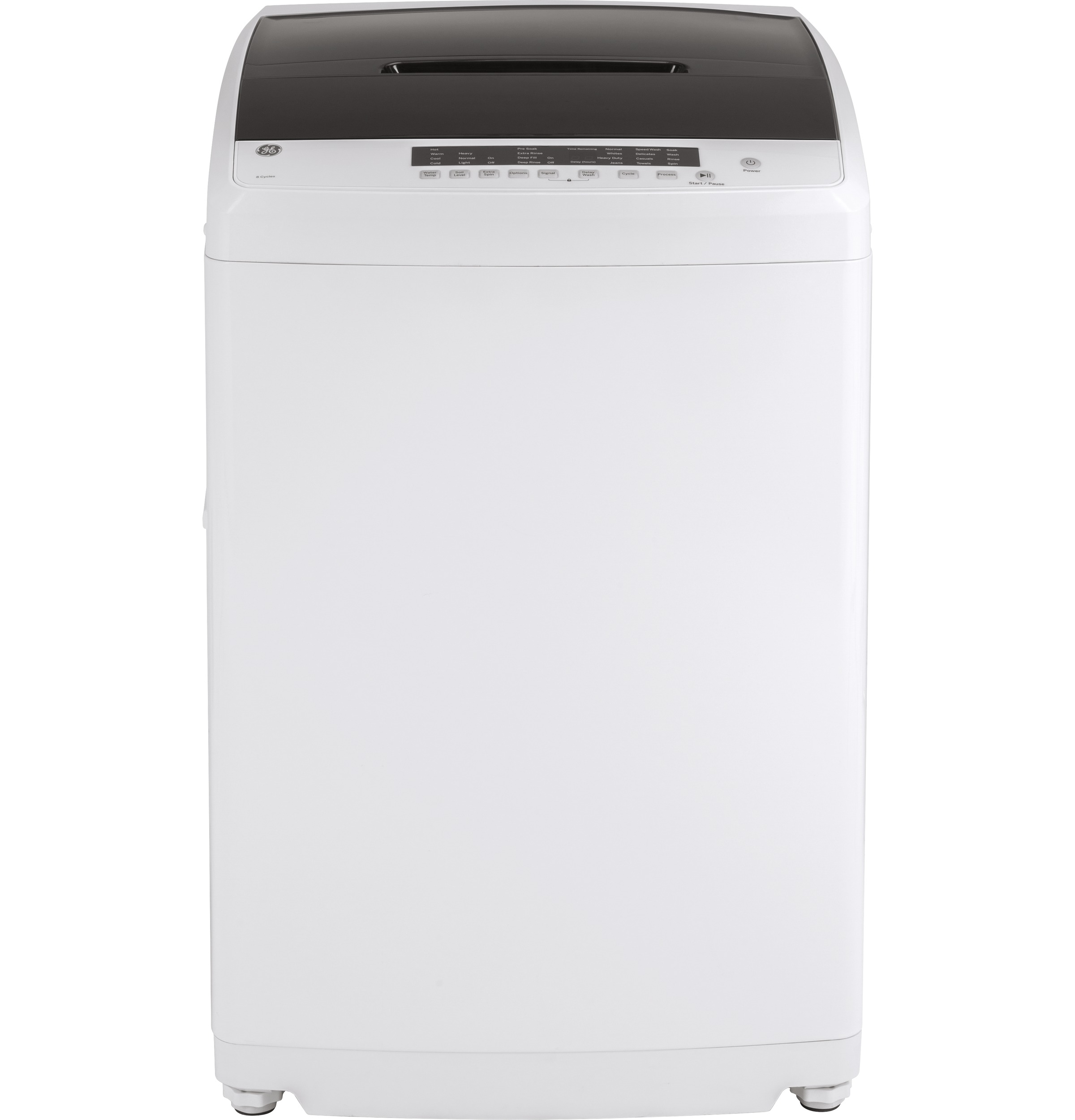 GE GE® Space-Saving 2.8 cu. ft. Capacity Stationary Washer with Stainless Steel Basket