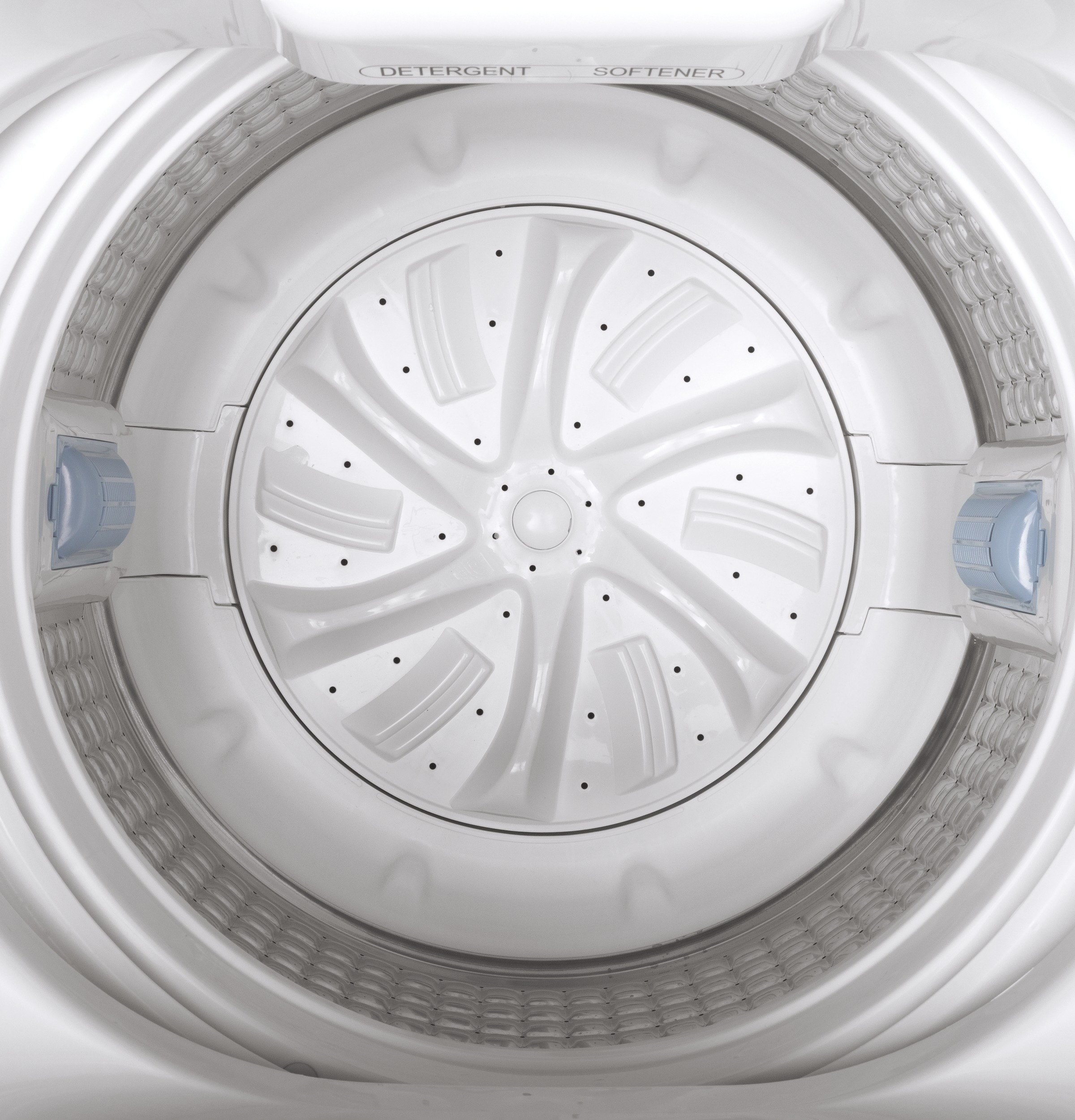 Model: GNW128SSMWW | GE GE® Space-Saving 2.8 cu. ft. Capacity Stationary Washer with Stainless Steel Basket