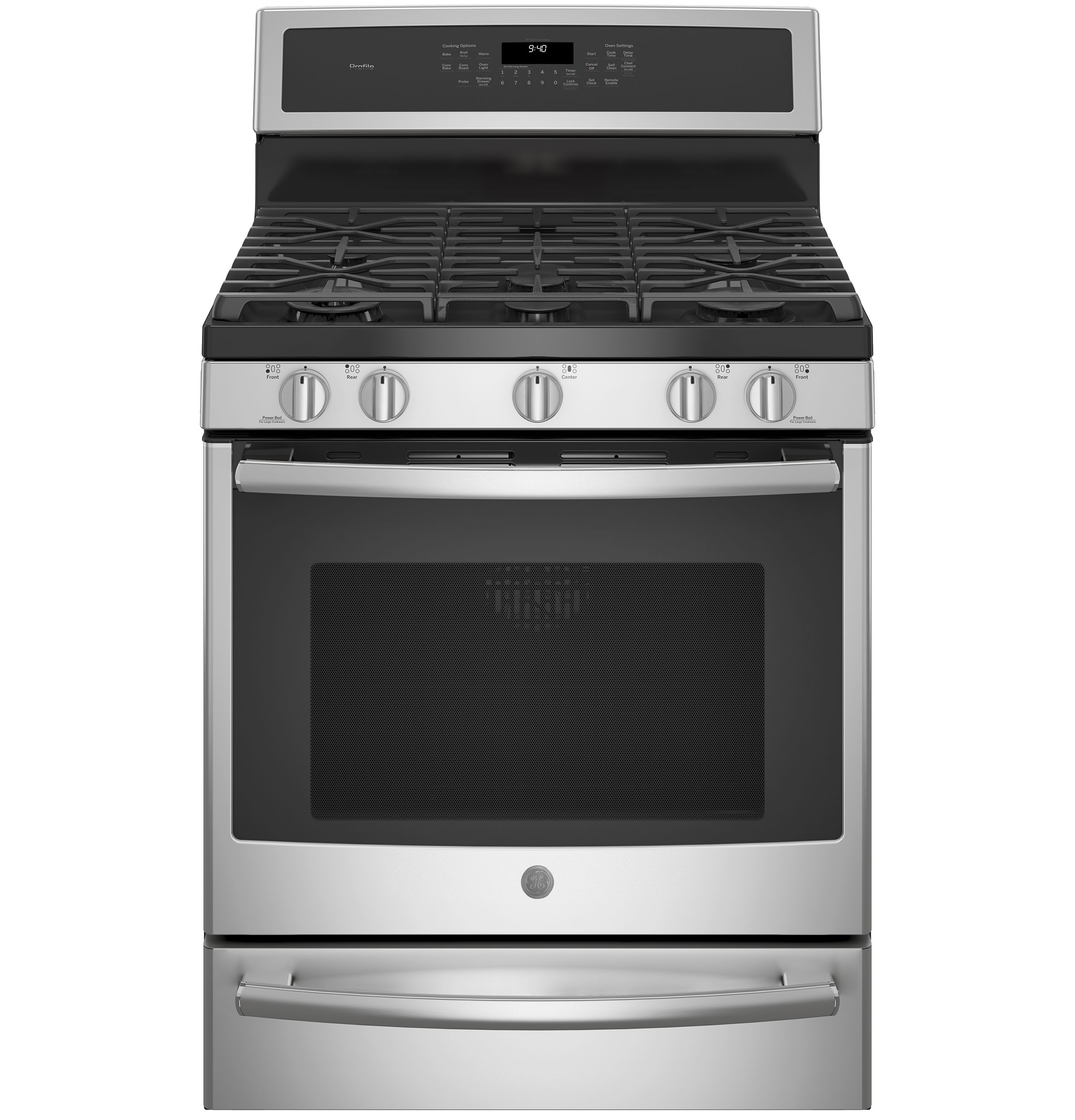 "Profile GE Profile™ 30"" Smart  Dual-Fuel Free-Standing Convection Range with Warming Drawer"