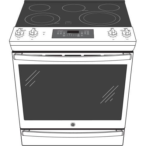 "Model: JS760DLBB | GE GE® 30"" Slide-In Electric Convection Range"