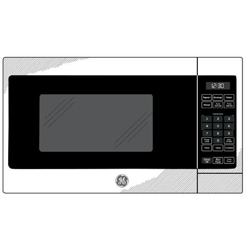Model: JES1072DMWW | GE GE® 0.7 Cu. Ft. Capacity Countertop Microwave Oven