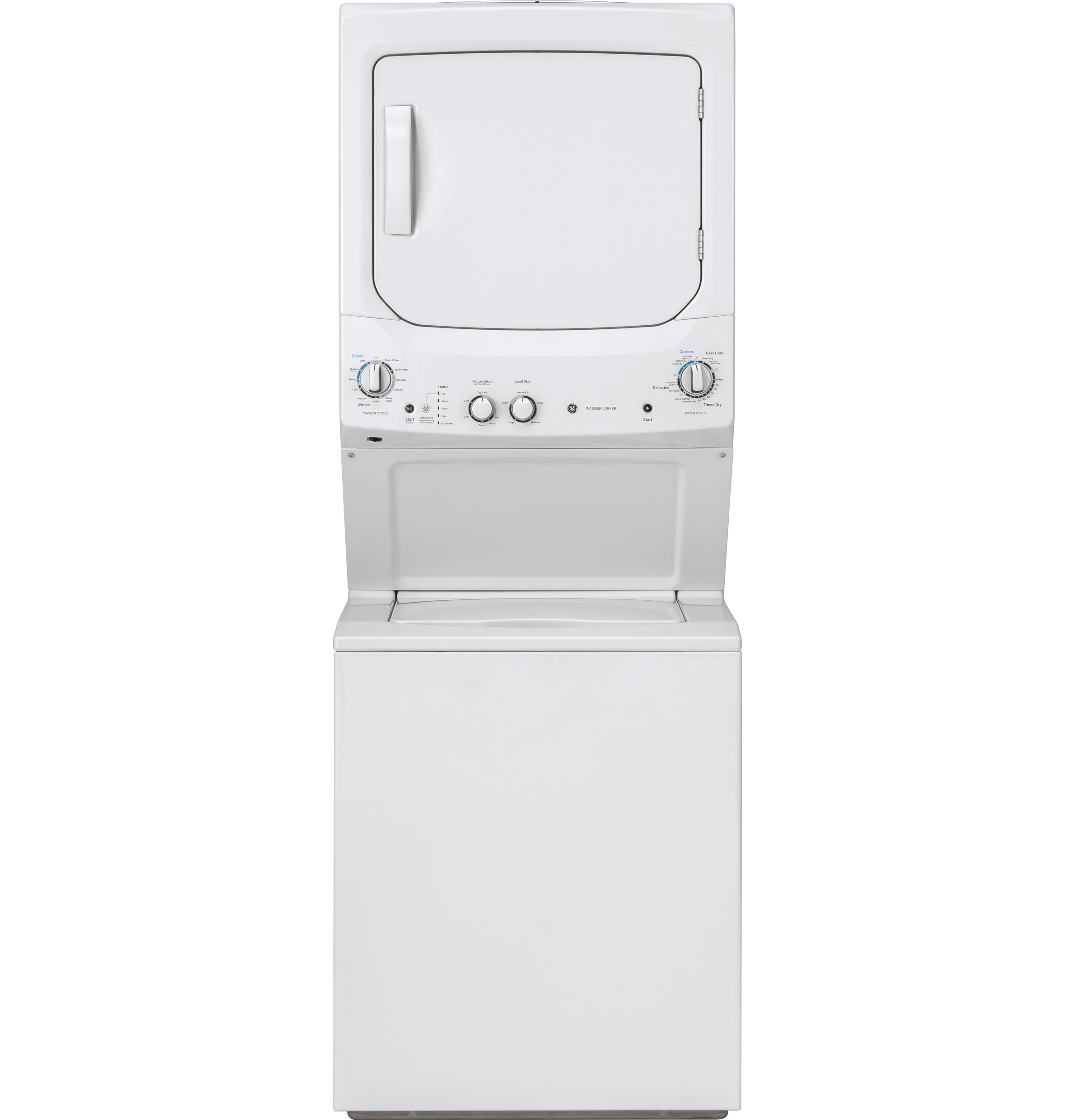 GE GE Unitized Spacemaker® 3.8 cu. ft. Capacity Washer with Stainless Steel Basket and 5.9 cu. ft. Capacity Electric Dryer