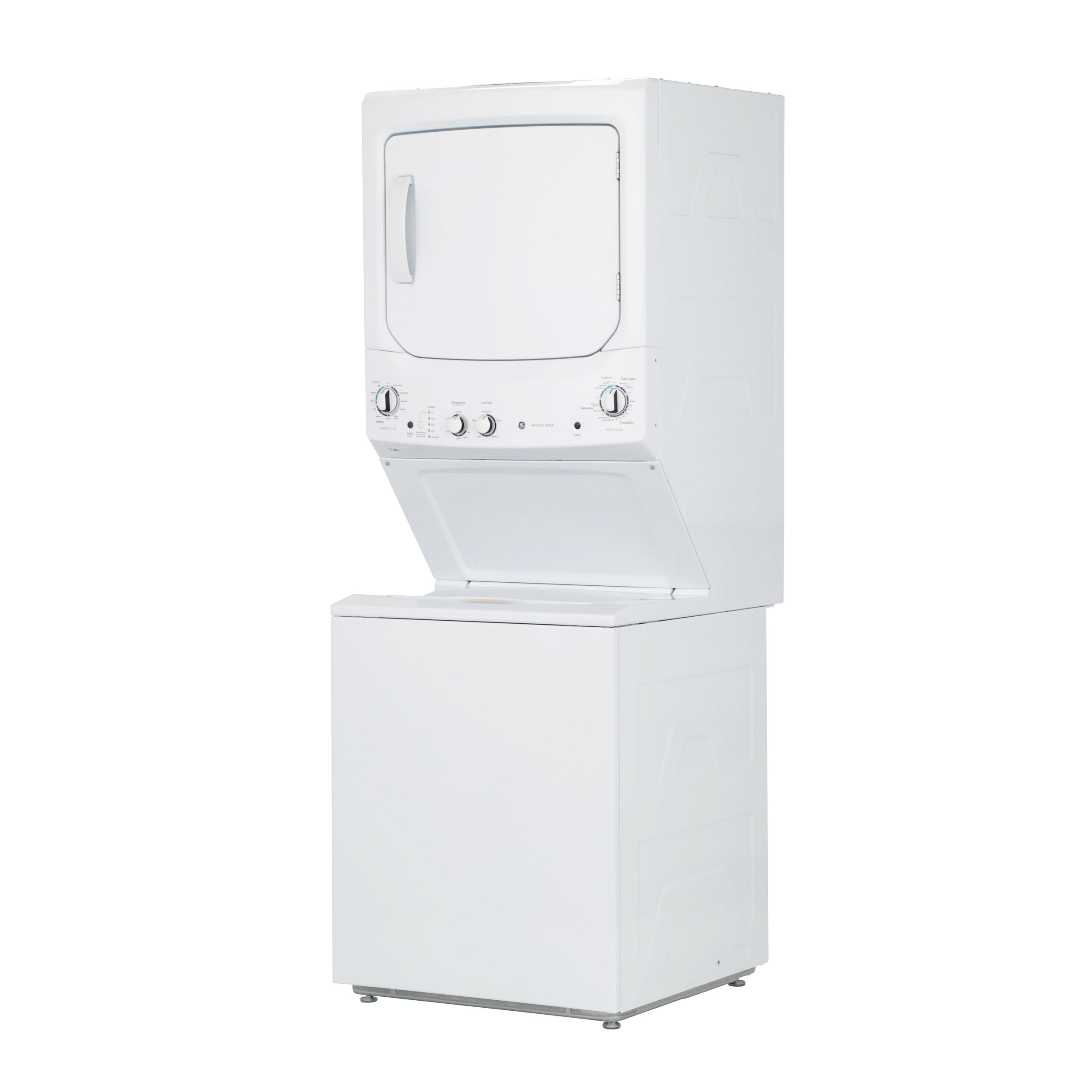 Model: GUD27ESSMWW | GE GE Unitized Spacemaker® 3.8 cu. ft. Capacity Washer with Stainless Steel Basket and 5.9 cu. ft. Capacity Electric Dryer