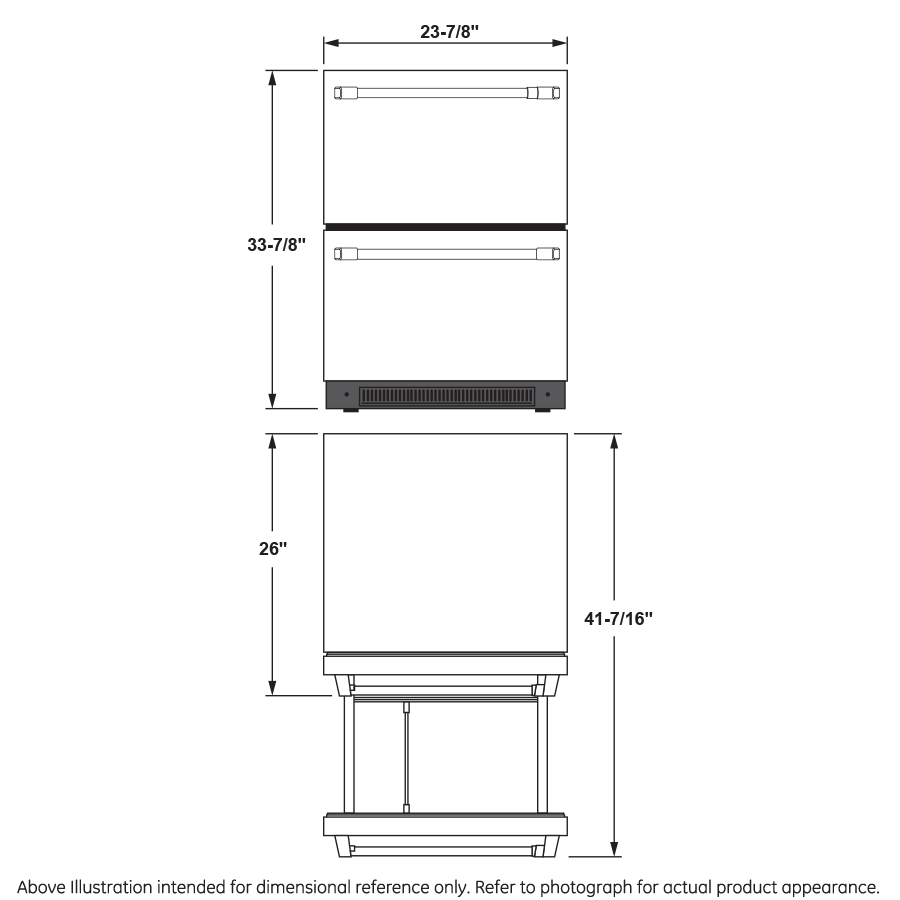 Model: CDE06RP2NS1 | Cafe Café™ 5.7 Cu. Ft. Built-In Dual-Drawer Refrigerator