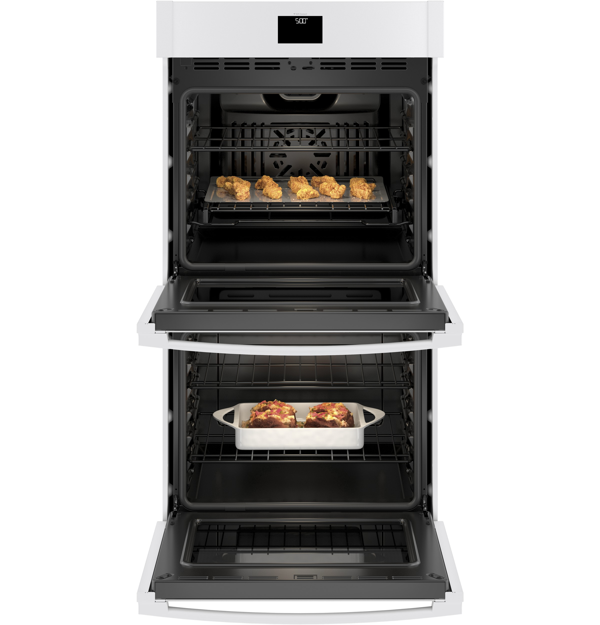 "Model: JKD5000DNWW | GE GE® 27"" Smart Built-In Convection Double Wall Oven"