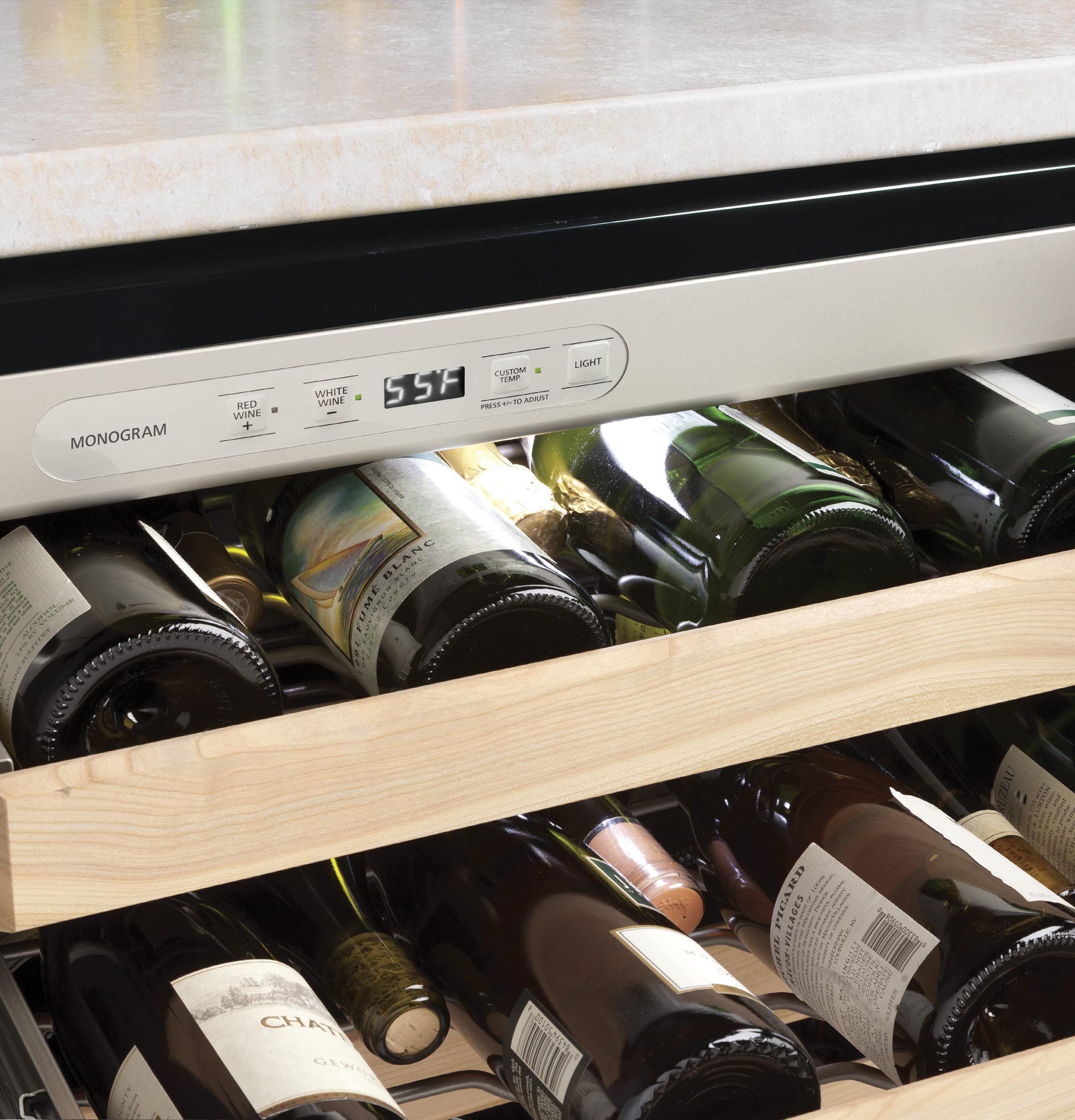 Model: ZDWR240HBS | Monogram Monogram Stainless Steel Wine Reserve