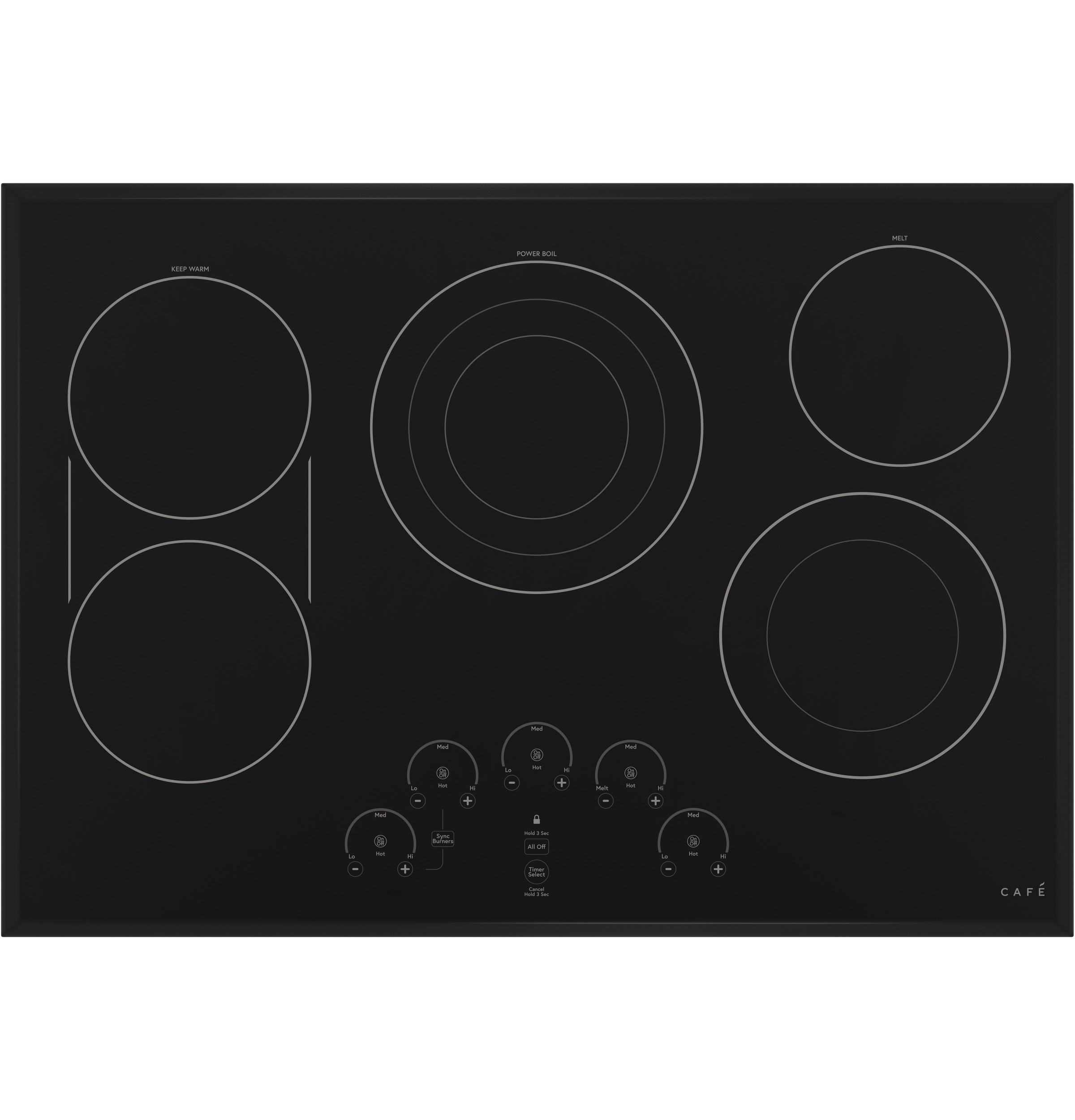 "Cafe Café™ 30"" Touch-Control Electric Cooktop"