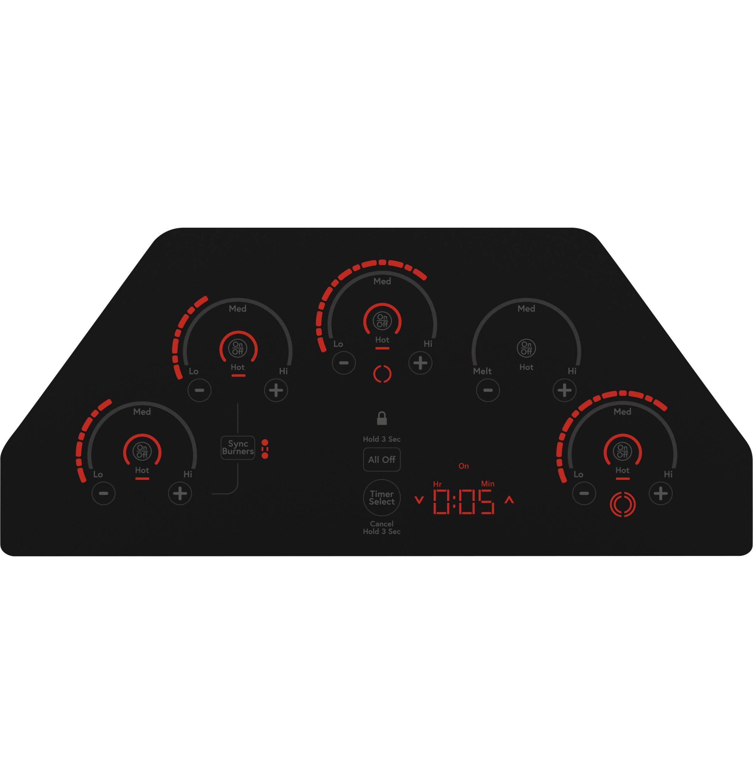 "Model: CEP90301NBB   Cafe Café™ 30"" Touch-Control Electric Cooktop"