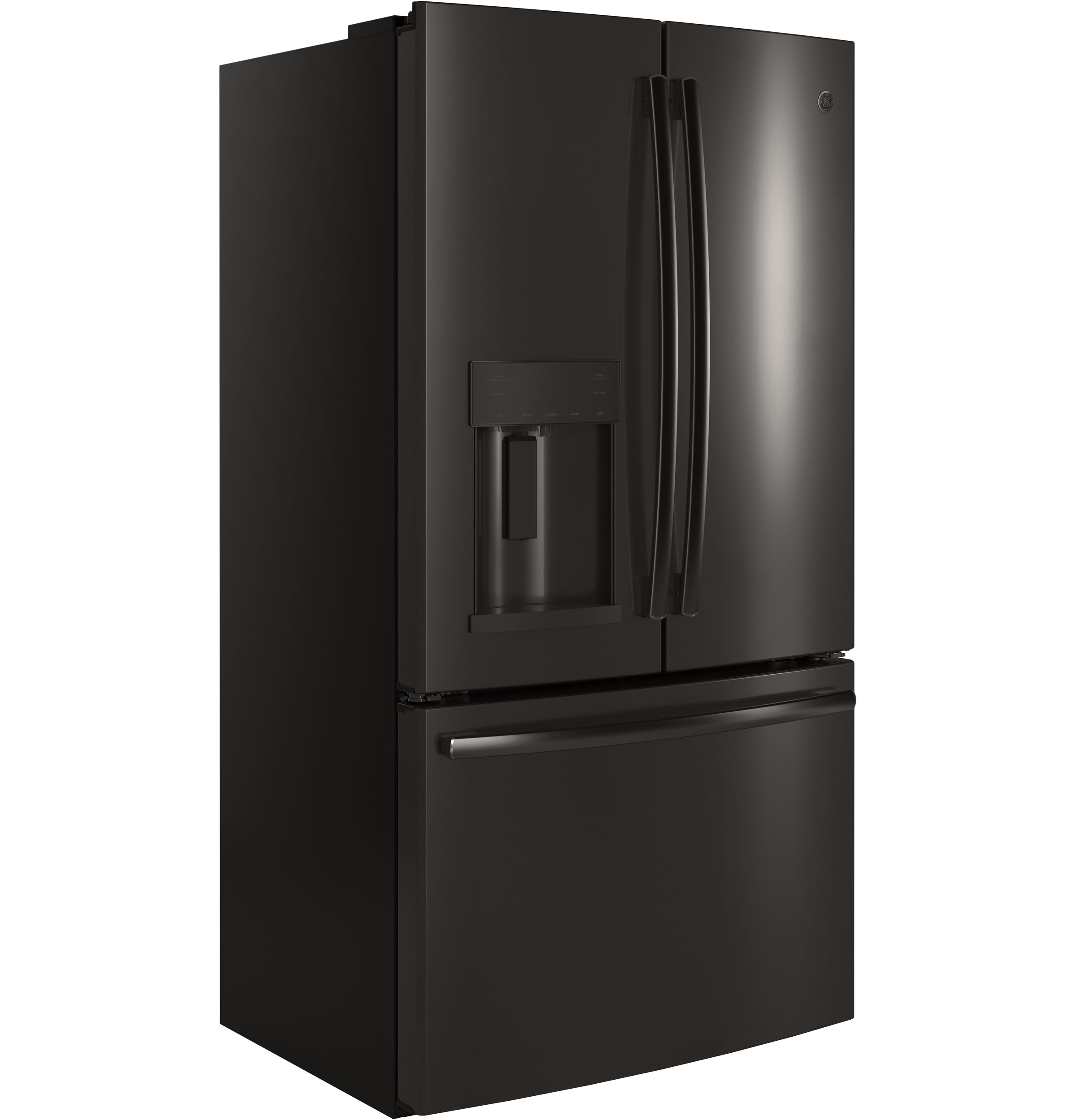 Model: GYE22HBLTS | GE® ENERGY STAR® 22.2 Cu. Ft. Counter-Depth French-Door Refrigerator