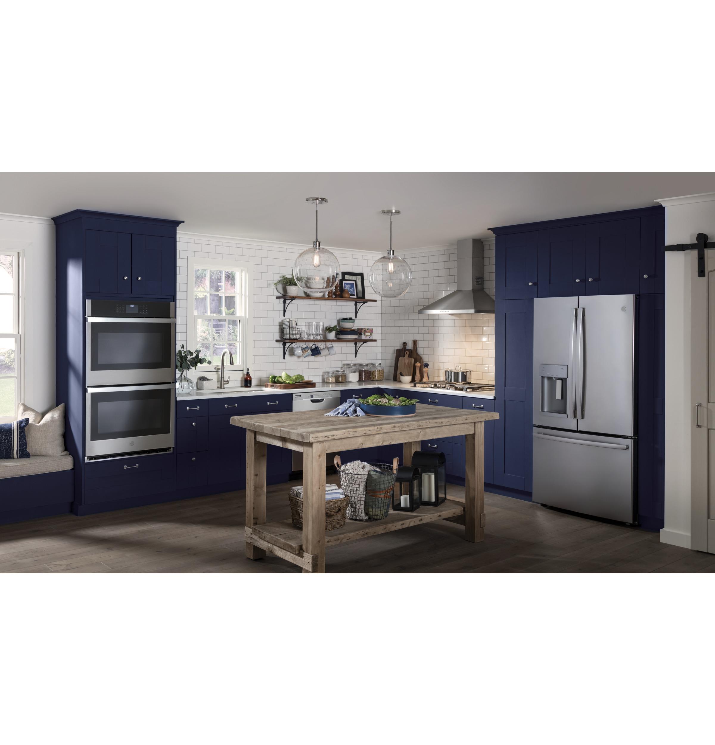Model: GYE22HSKSS | GE GE® ENERGY STAR® 22.2 Cu. Ft. Counter-Depth French-Door Refrigerator
