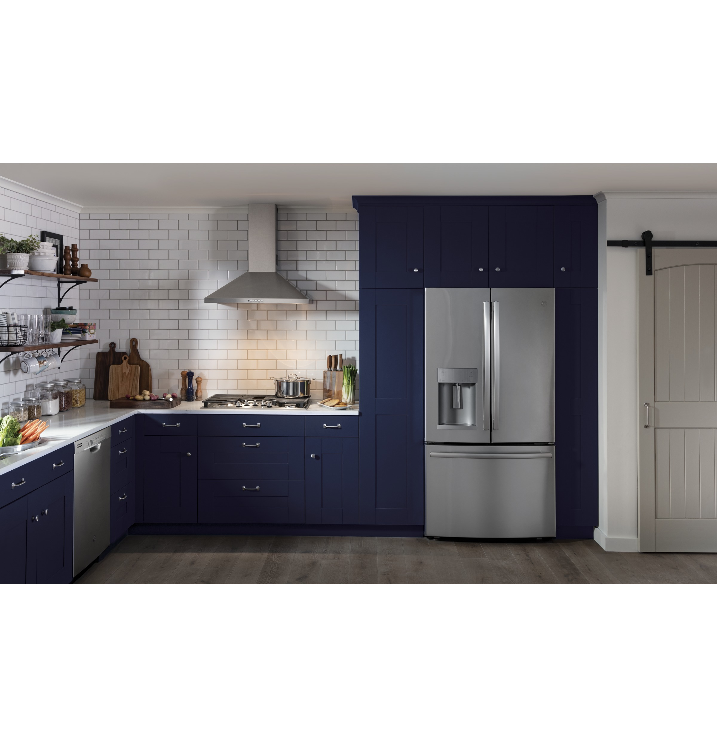 Model: GYE22HSKSS | GE® ENERGY STAR® 22.2 Cu. Ft. Counter-Depth French-Door Refrigerator