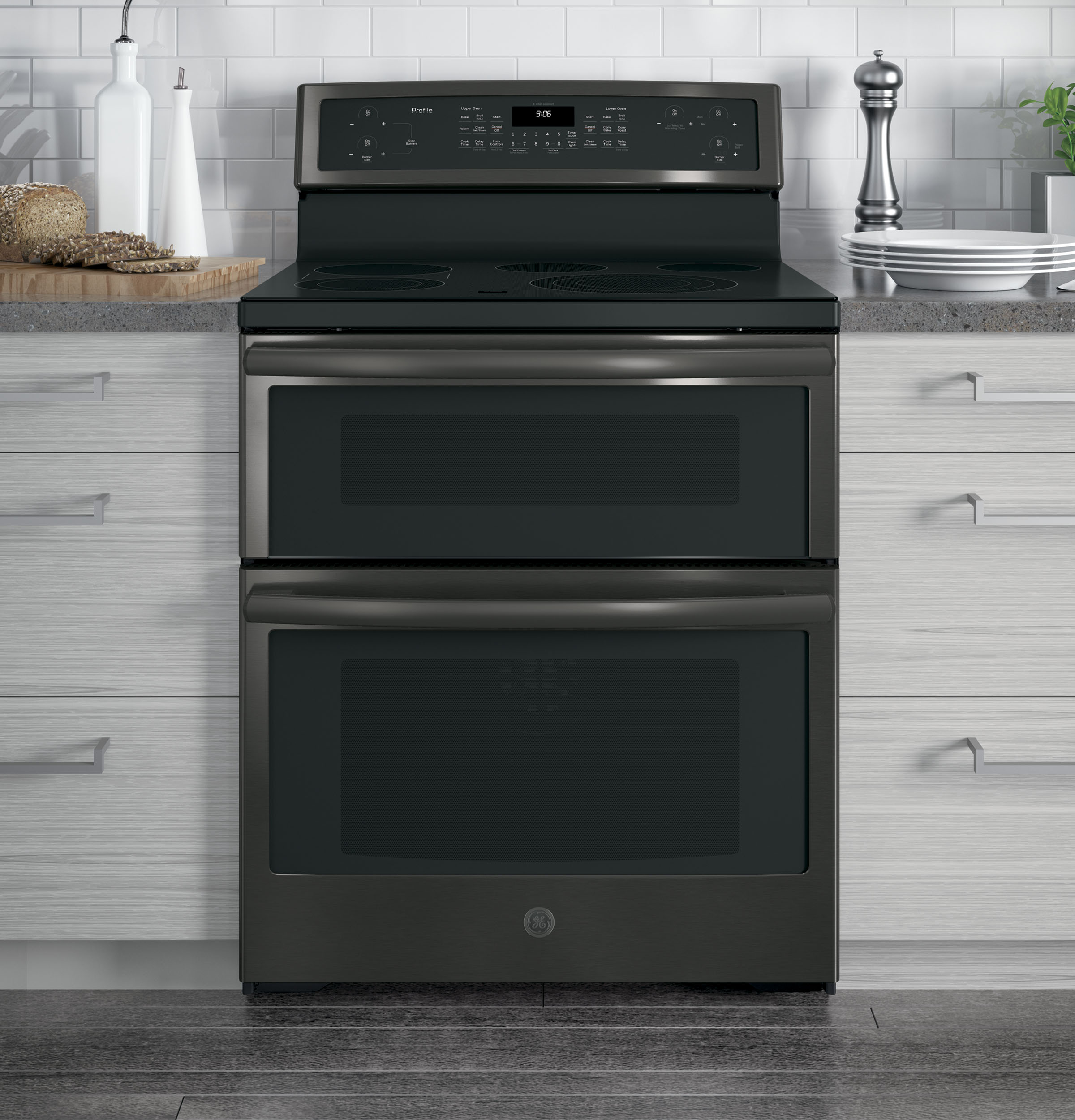 "Profile GE Profile™ 30"" Free-Standing Electric Double Oven Convection Range"