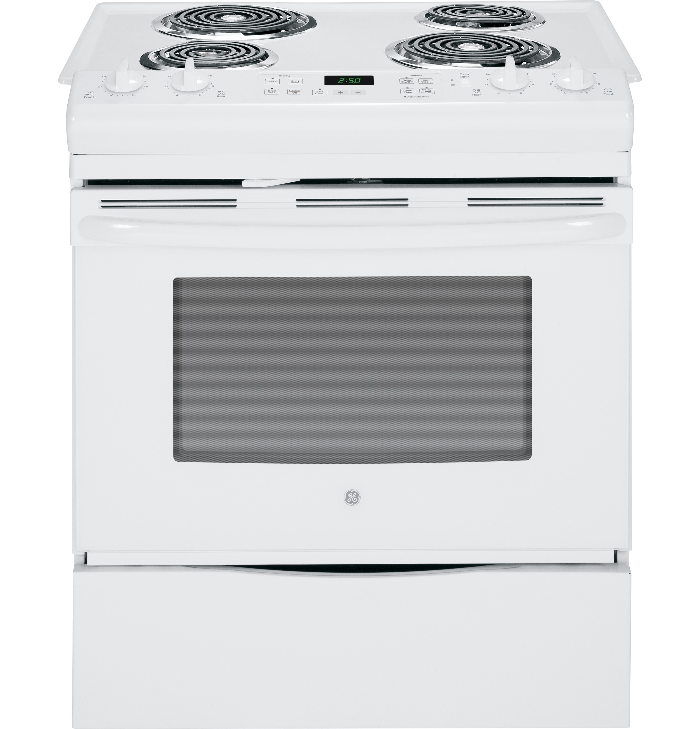 "GE GE® 30"" Slide-In Front Control Electric Range"