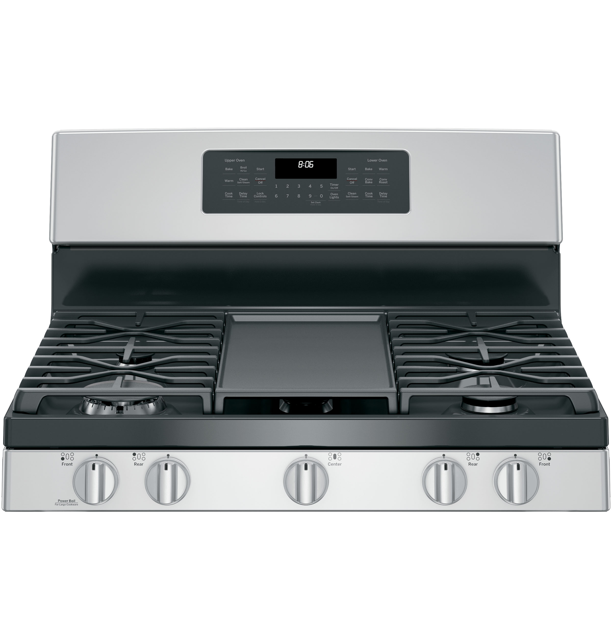 """GE GE® 30"""" Free-Standing Gas Double Oven Convection Range"""