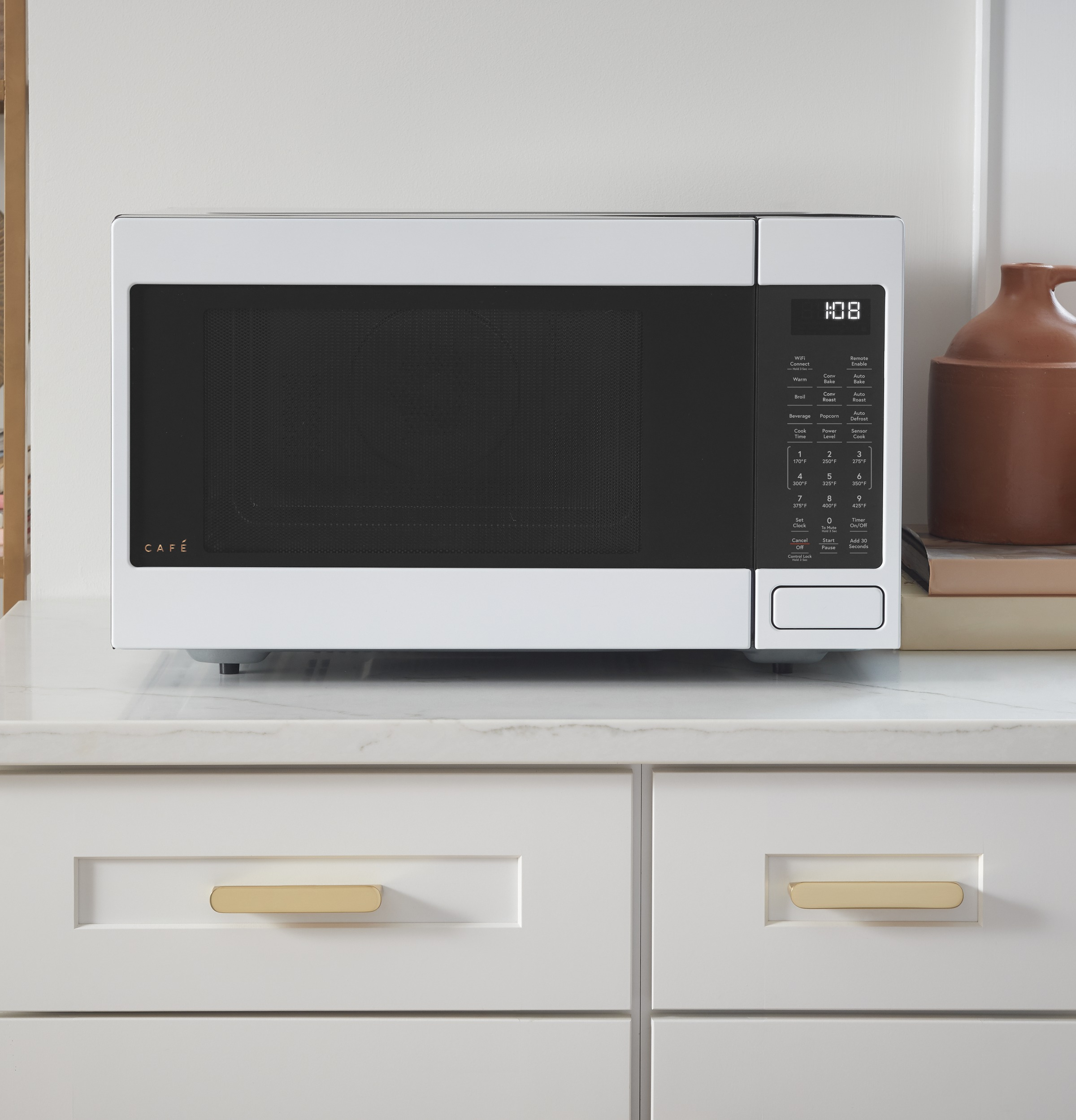 Model: CEB515P4NWM | Cafe Café™ 1.5 Cu. Ft. Smart Countertop Convection/Microwave Oven