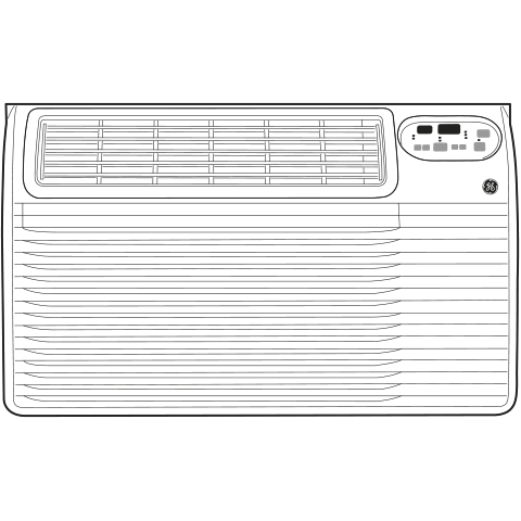 Model: AJEQ08ACF | GE GE® 115 Volt Built-In Heat/Cool Room Air Conditioner