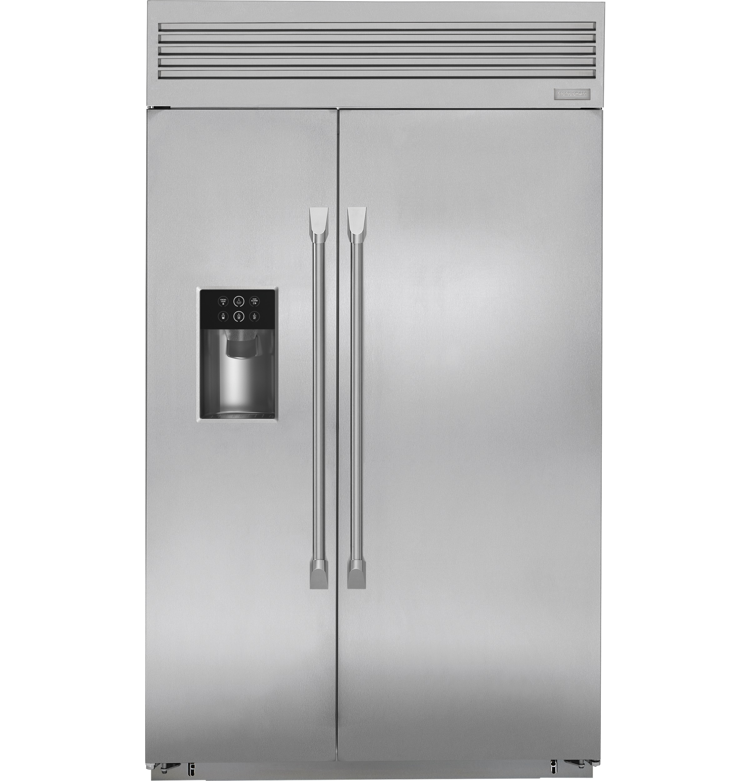 "Monogram Monogram 48"" Smart Built-In Professional Side-by-Side Refrigerator with Dispenser"