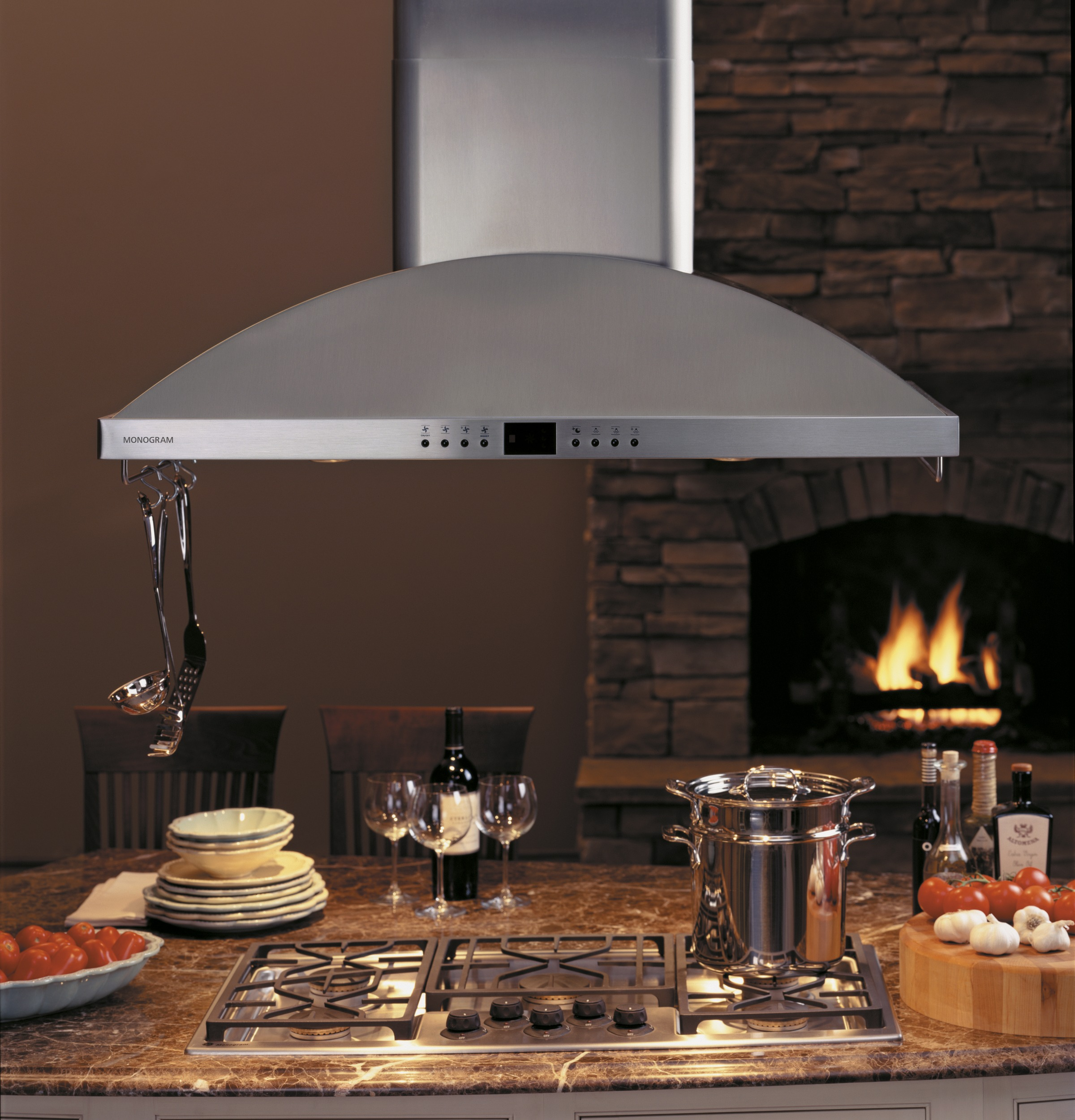 "Model: ZV1050SFSS | Monogram Monogram 42"" High Performance Island Hood"