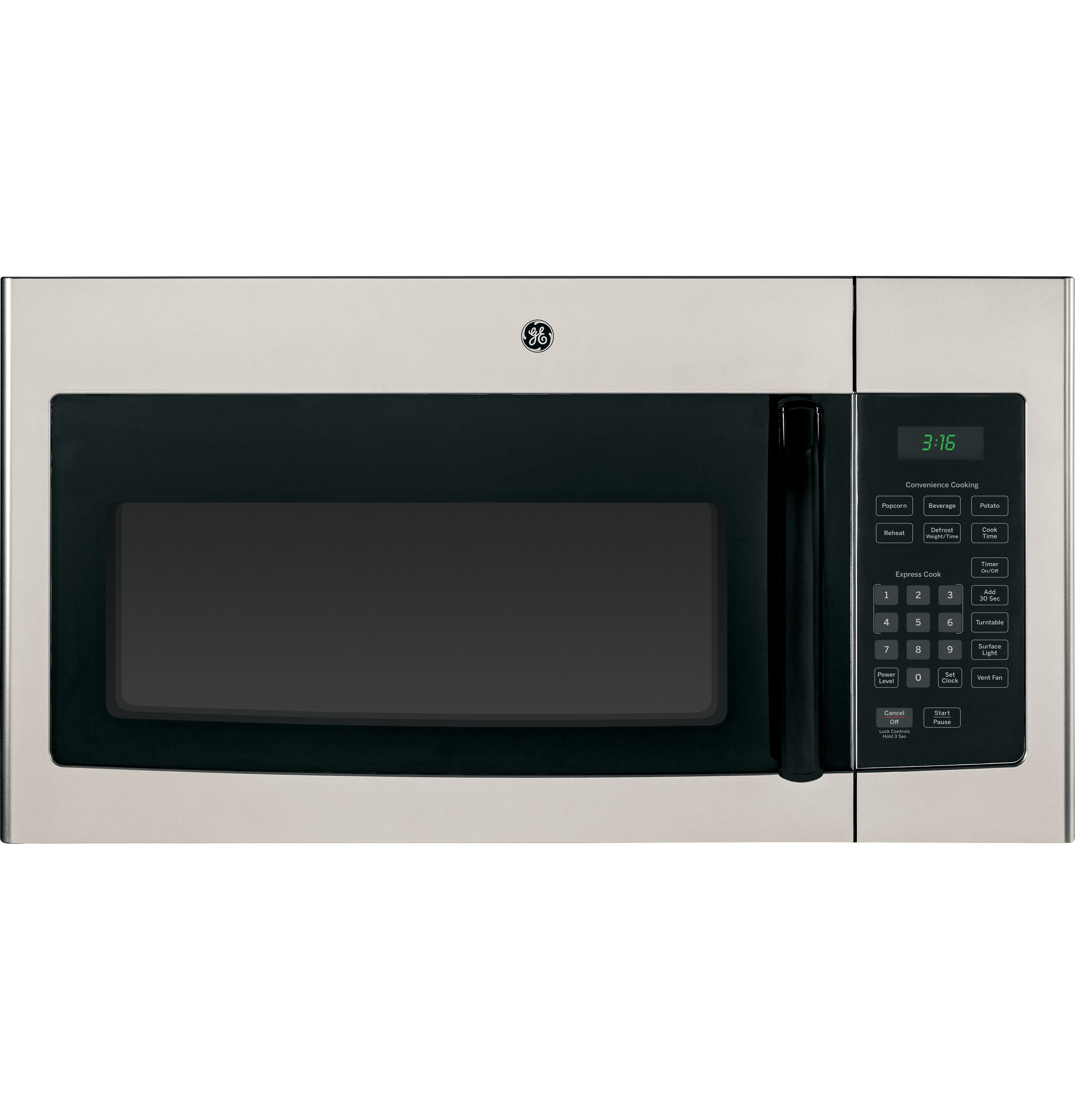 GE GE® 1.6 Cu. Ft. Over-the-Range Microwave Oven with Recirculating Venting