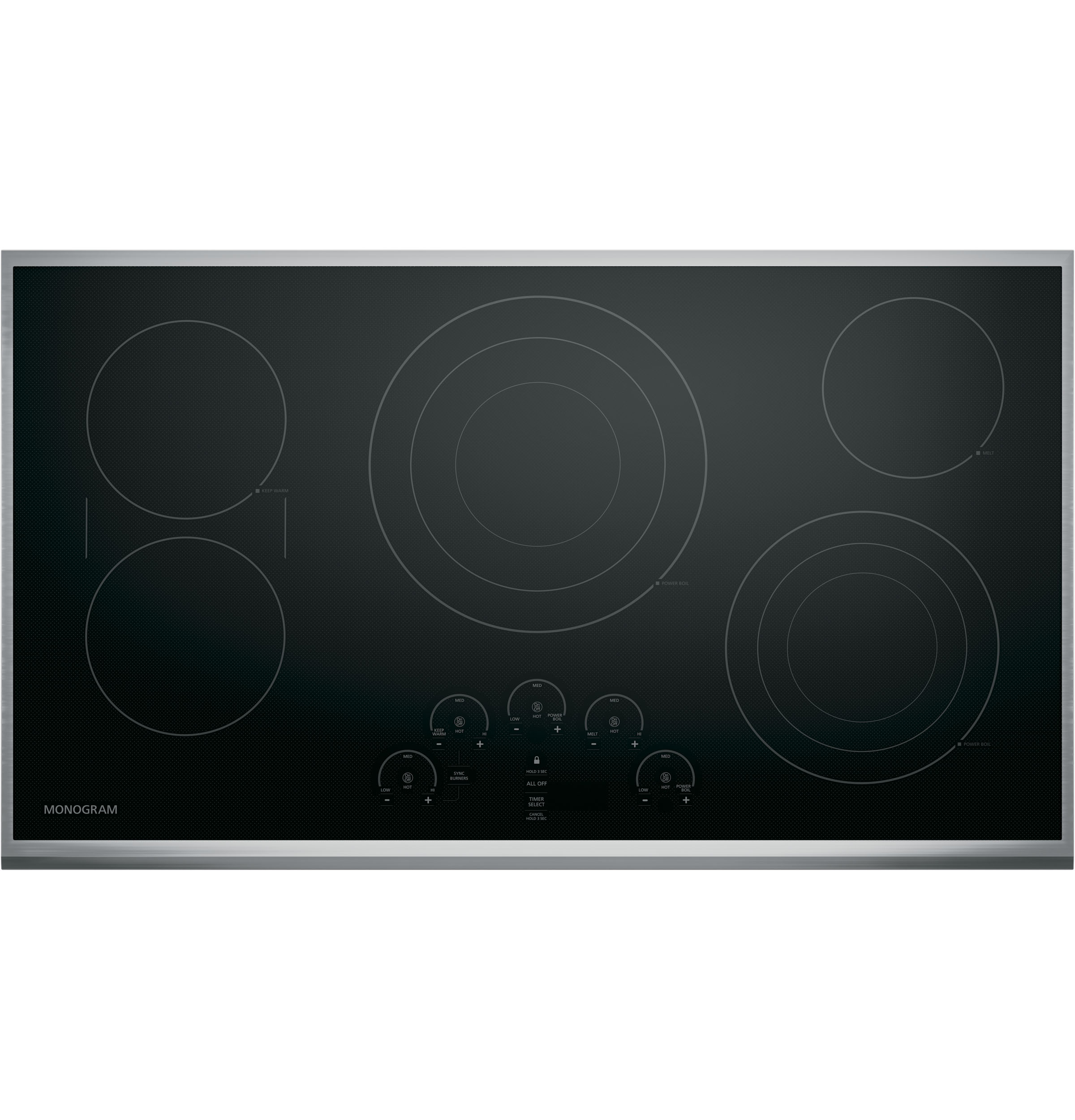 "Monogram Monogram 36"" Touch Control Electric Cooktop"