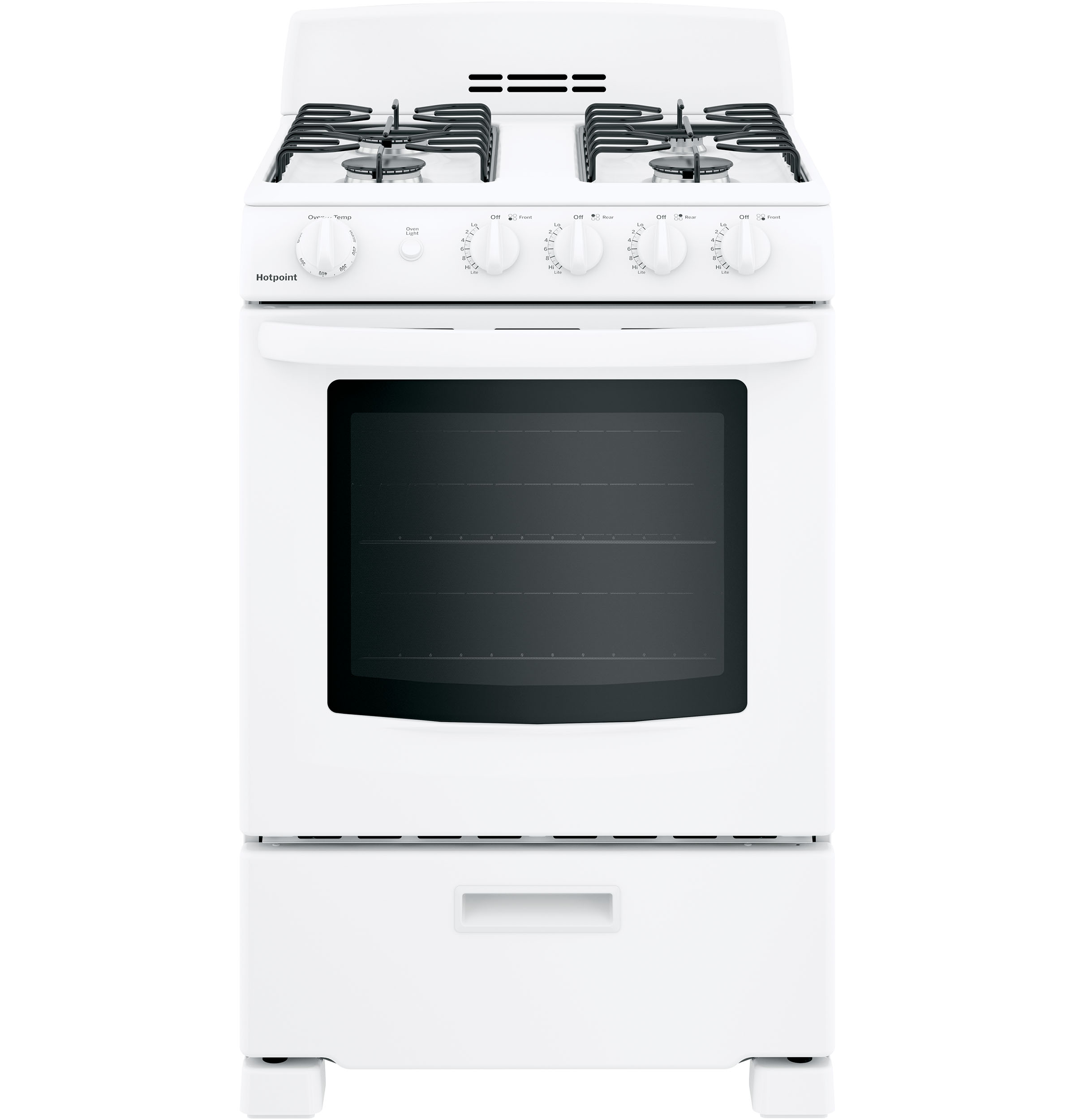 "Hotpoint Hotpoint® 24"" Front-Control Free-Standing Gas Range with Large Window"