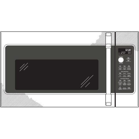 Model: CVM517P2MS1 | Cafe Café™ 1.7 Cu. Ft. Convection Over-the-Range Microwave Oven