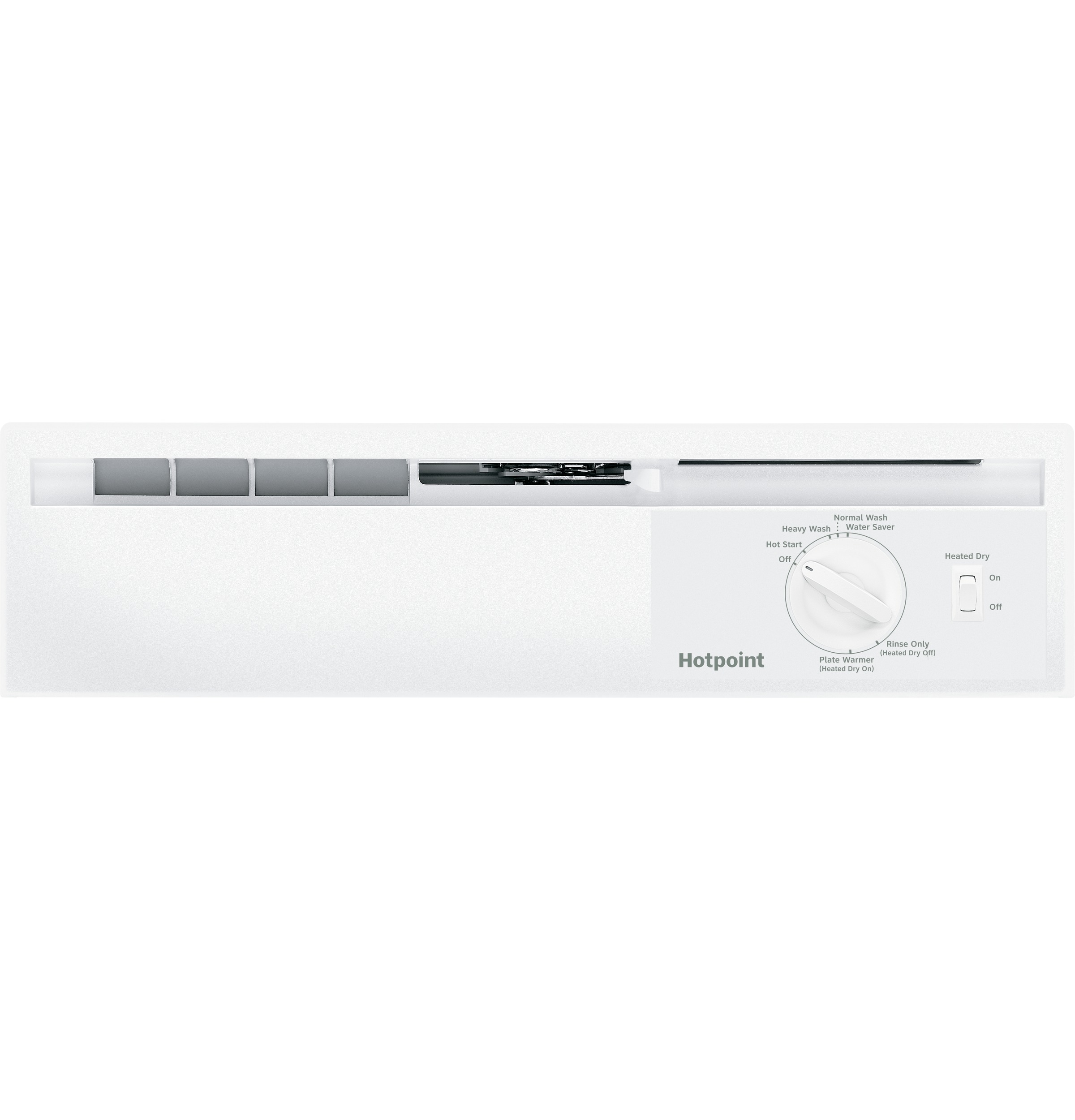 Model: HDA2100HWW | Hotpoint® Built-In Dishwasher