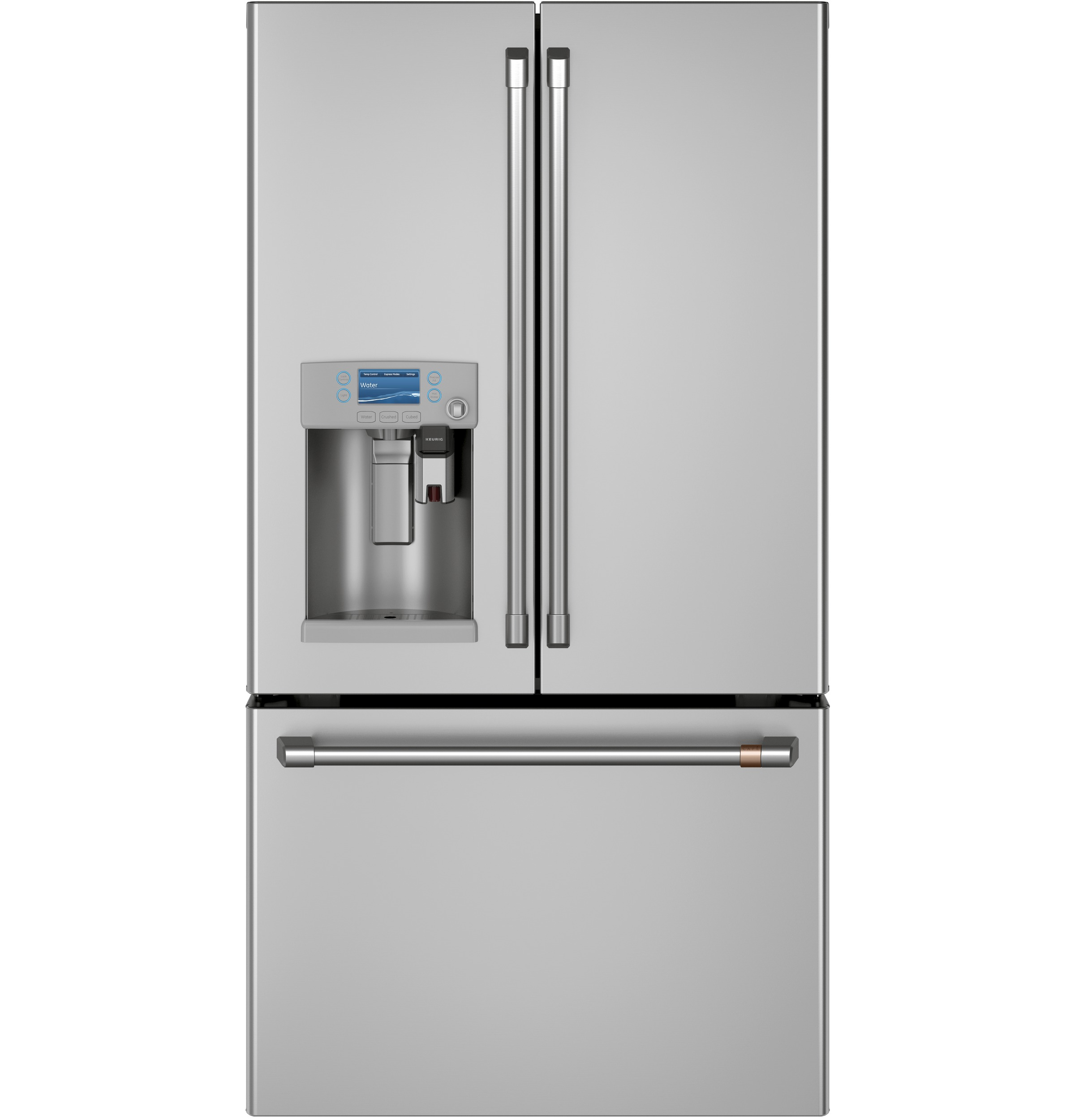 Cafe Café™ ENERGY STAR® 22.1 Cu. Ft. Smart Counter-Depth French-Door Refrigerator with Keurig® K-Cup® Brewing System