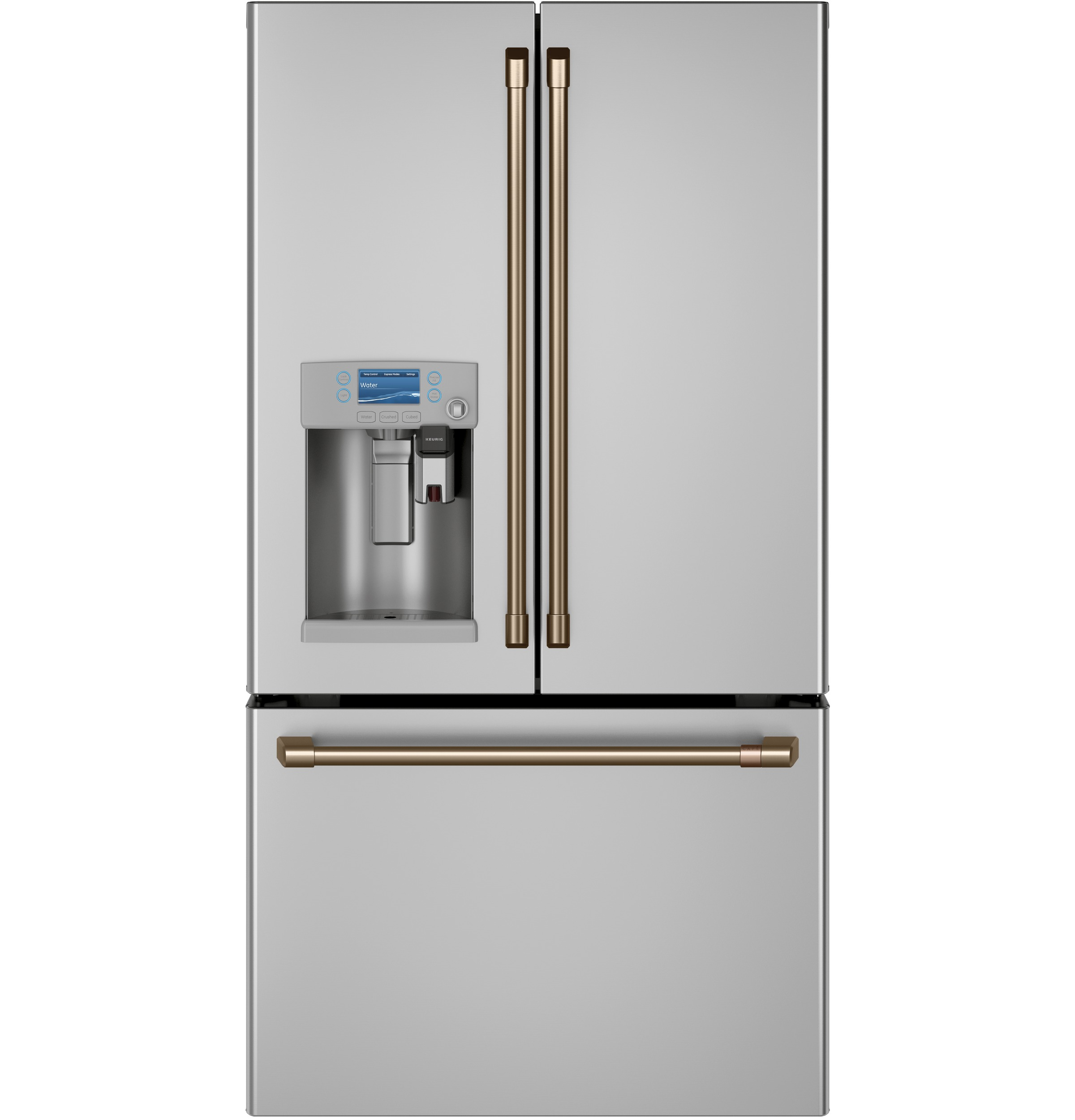 Model: CYE22UP2MS1 | Cafe Café™ ENERGY STAR® 22.1 Cu. Ft. Smart Counter-Depth French-Door Refrigerator with Keurig® K-Cup® Brewing System