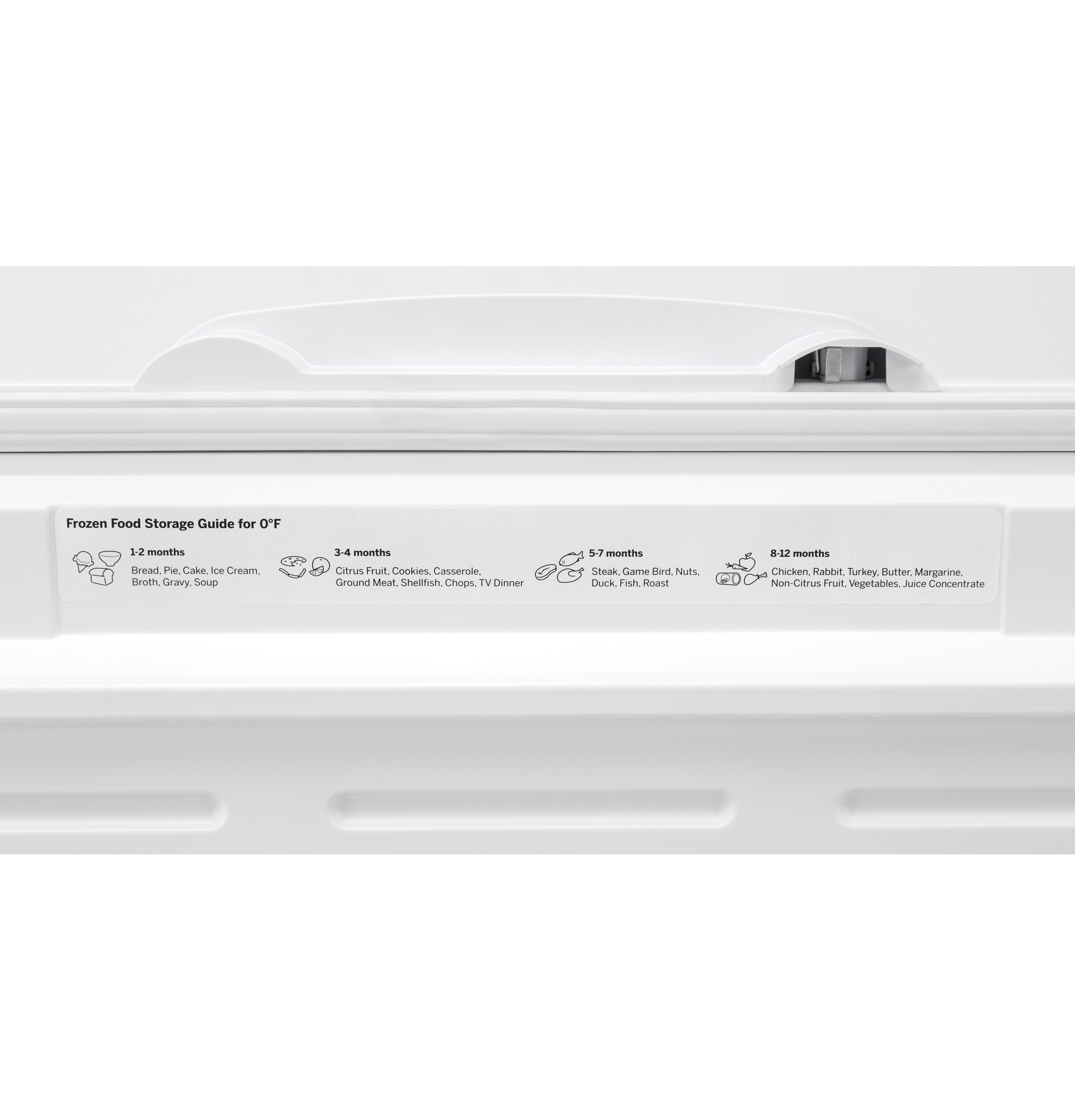 Model: FCM22DLWW | GE® 21.7 Cu. Ft. Manual Defrost Chest Freezer