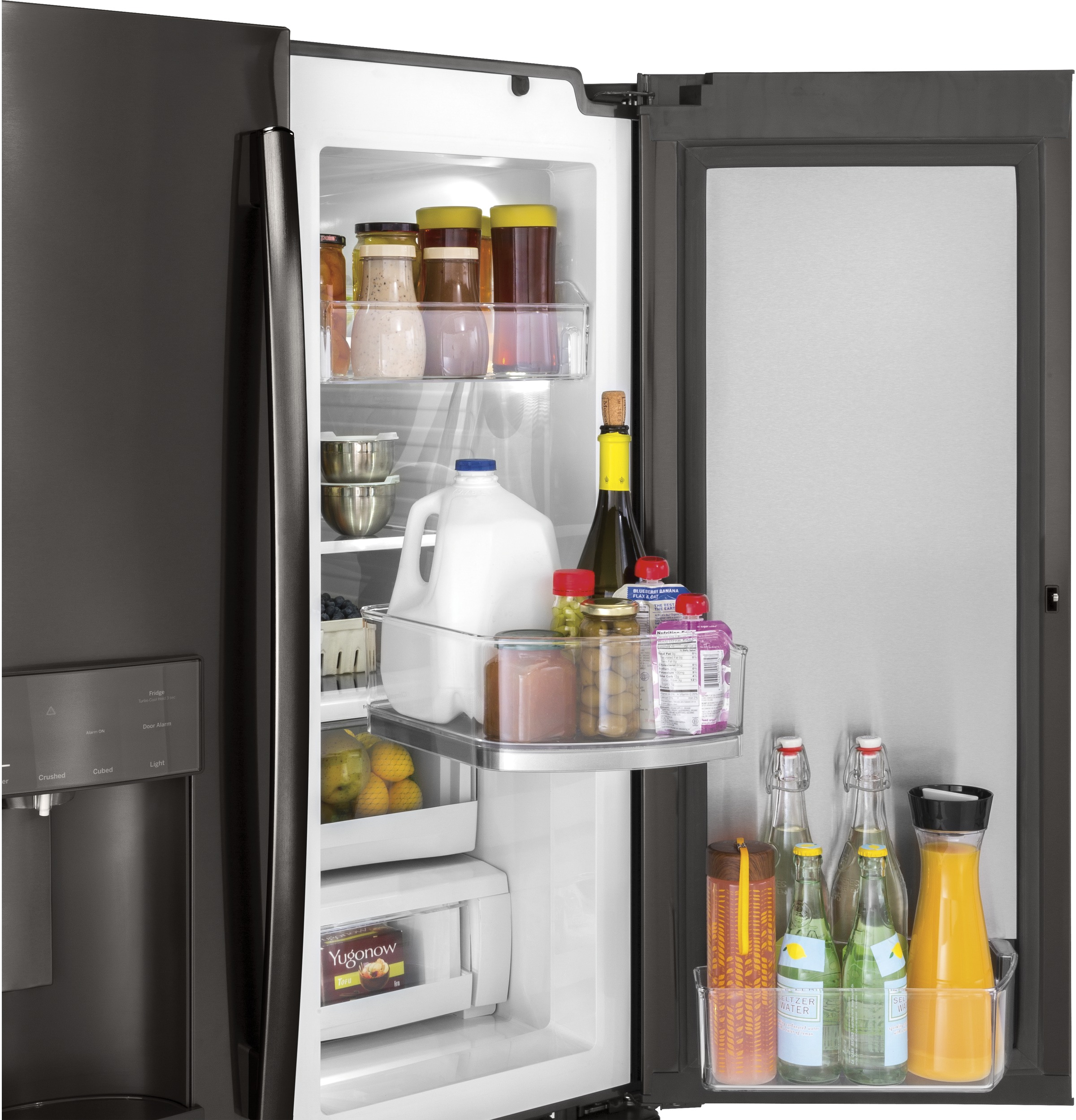 Model: GFD28GBLTS | GE® 27.8 Cu. Ft. French-Door Refrigerator with Door In Door