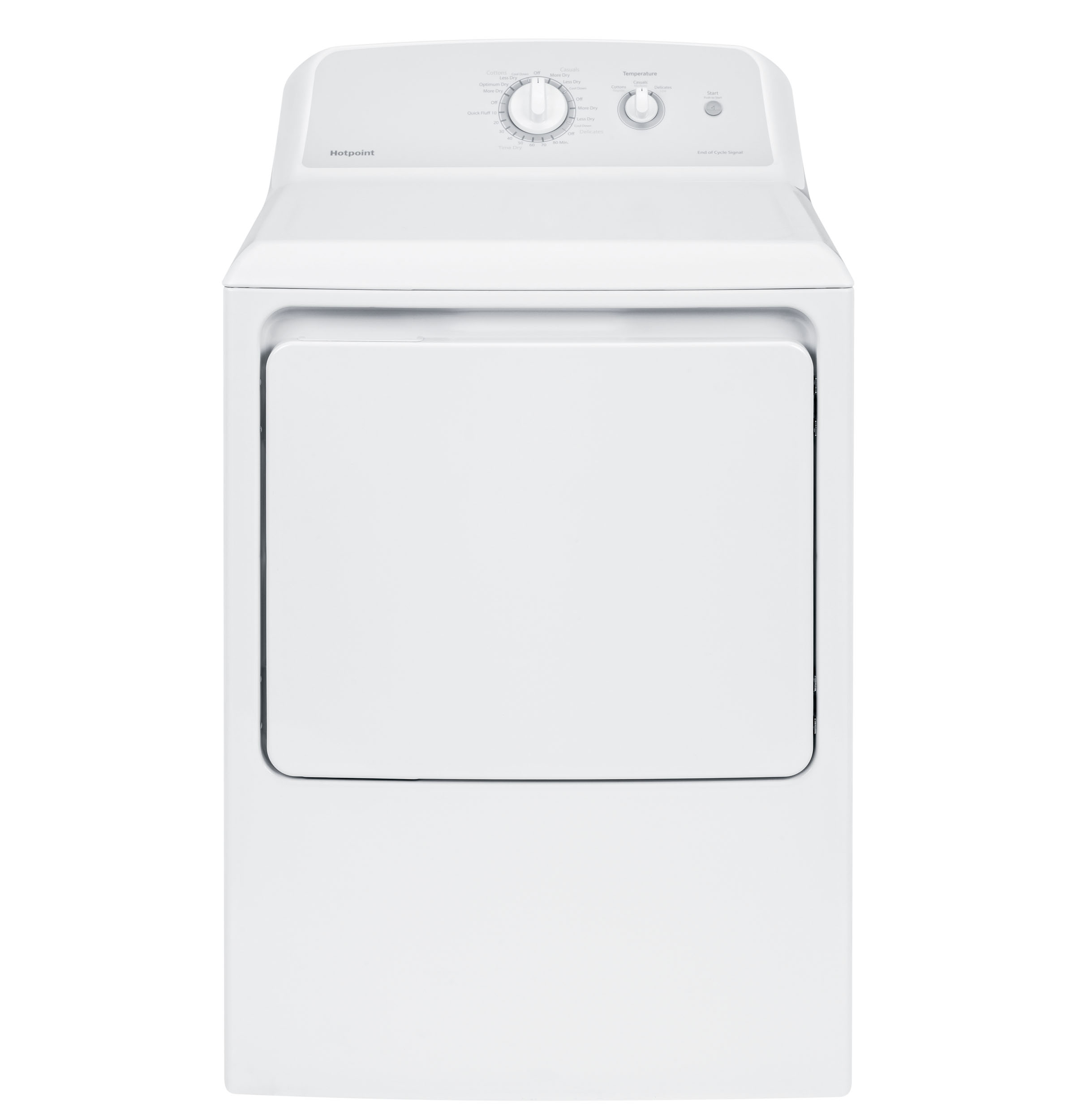 Hotpoint® 6.2 cu. ft. Capacity aluminized alloy Gas Dryer