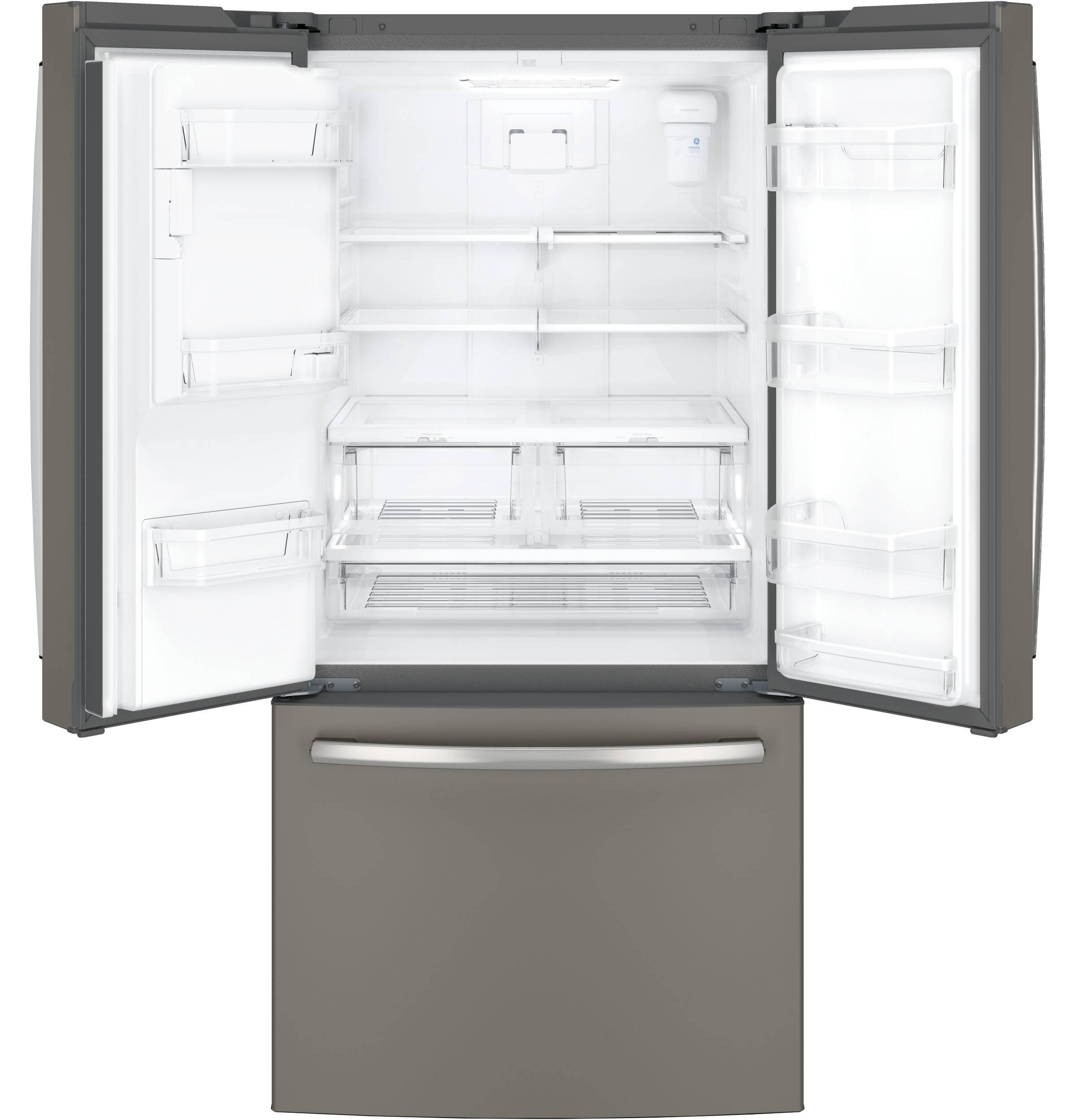 Model: GFE24JMKES | GE GE® ENERGY STAR® 23.7 Cu. Ft. French-Door Refrigerator