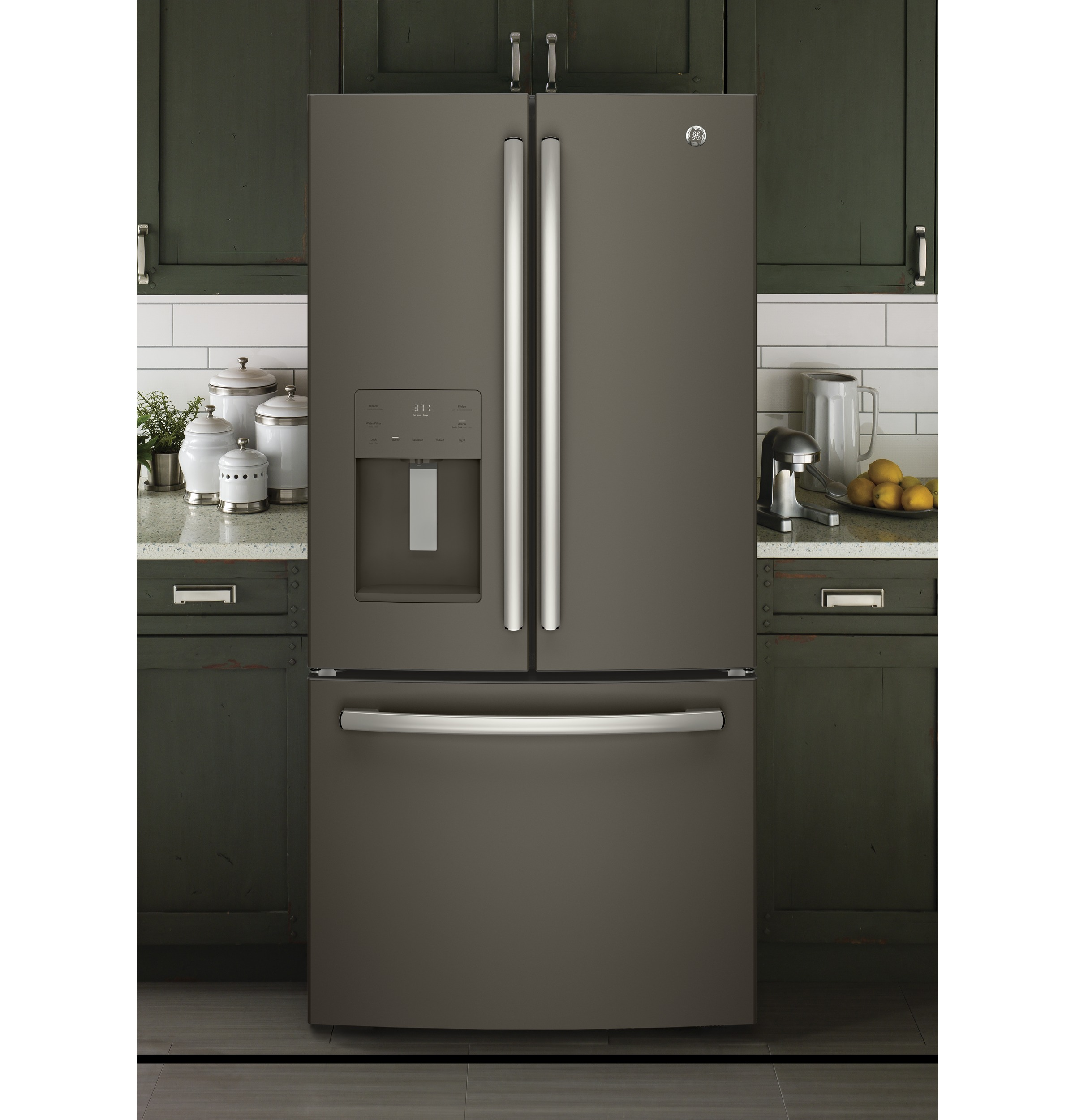 Model: GFE24JMKES | GE® ENERGY STAR® 23.7 Cu. Ft. French-Door Refrigerator