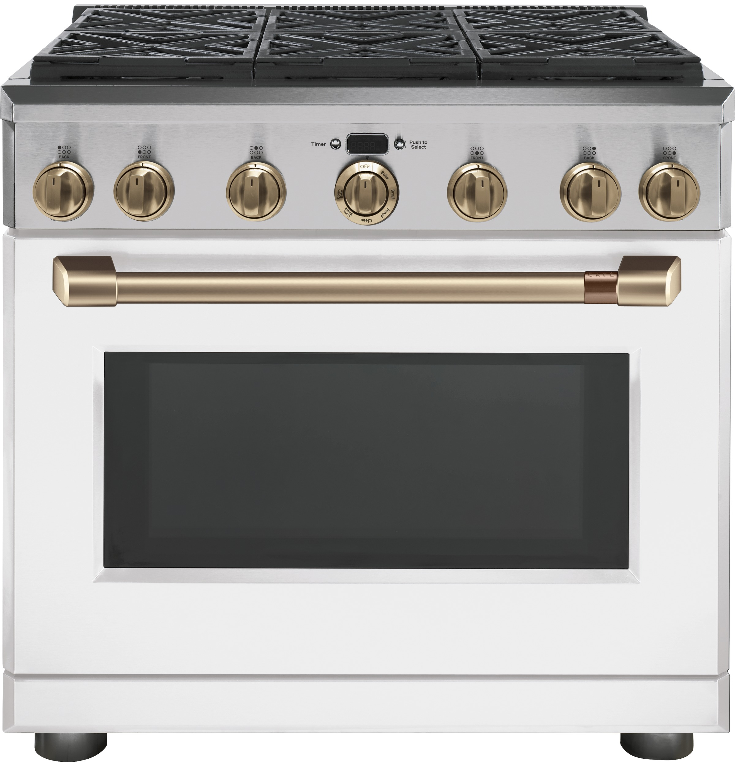 "Cafe Café™ 36"" All-Gas Professional Range with 6 Burners (Natural Gas)"