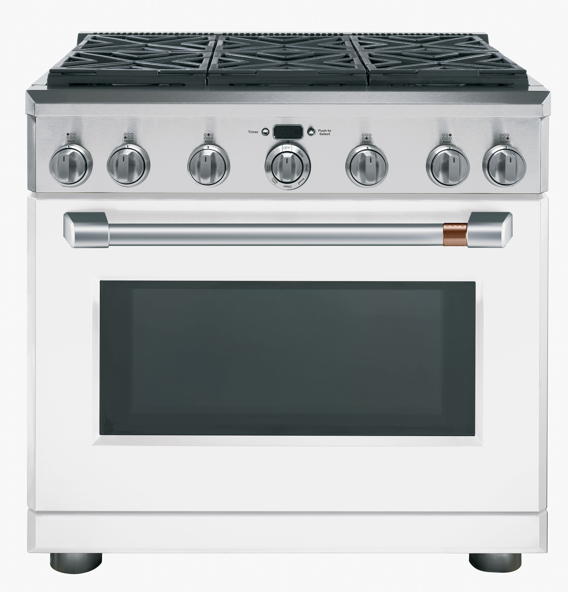 "Model: CGY366P4MW2 | Cafe Café™ 36"" All-Gas Professional Range with 6 Burners (Natural Gas)"