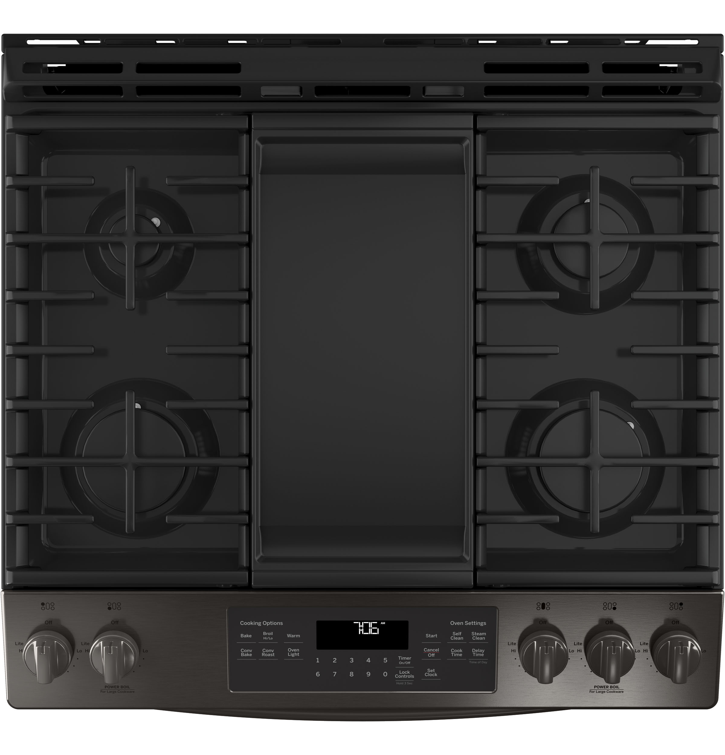 "Model: JGS760BELTS | GE GE® 30"" Slide-In Front-Control Convection Gas Range"