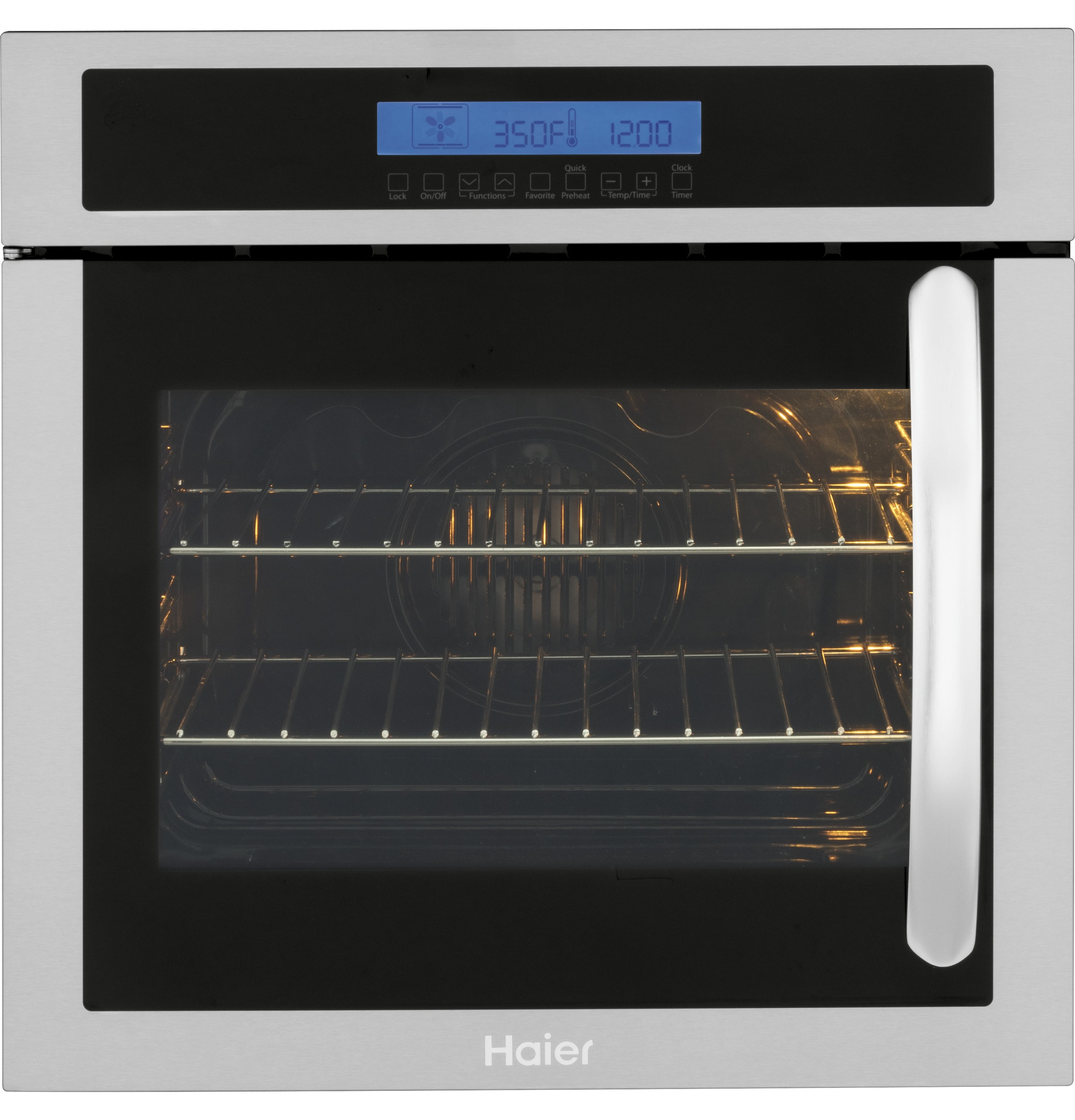 "Haier 24"" Single 2.0 Cu. Ft. Left-Swing True European Convection Oven"