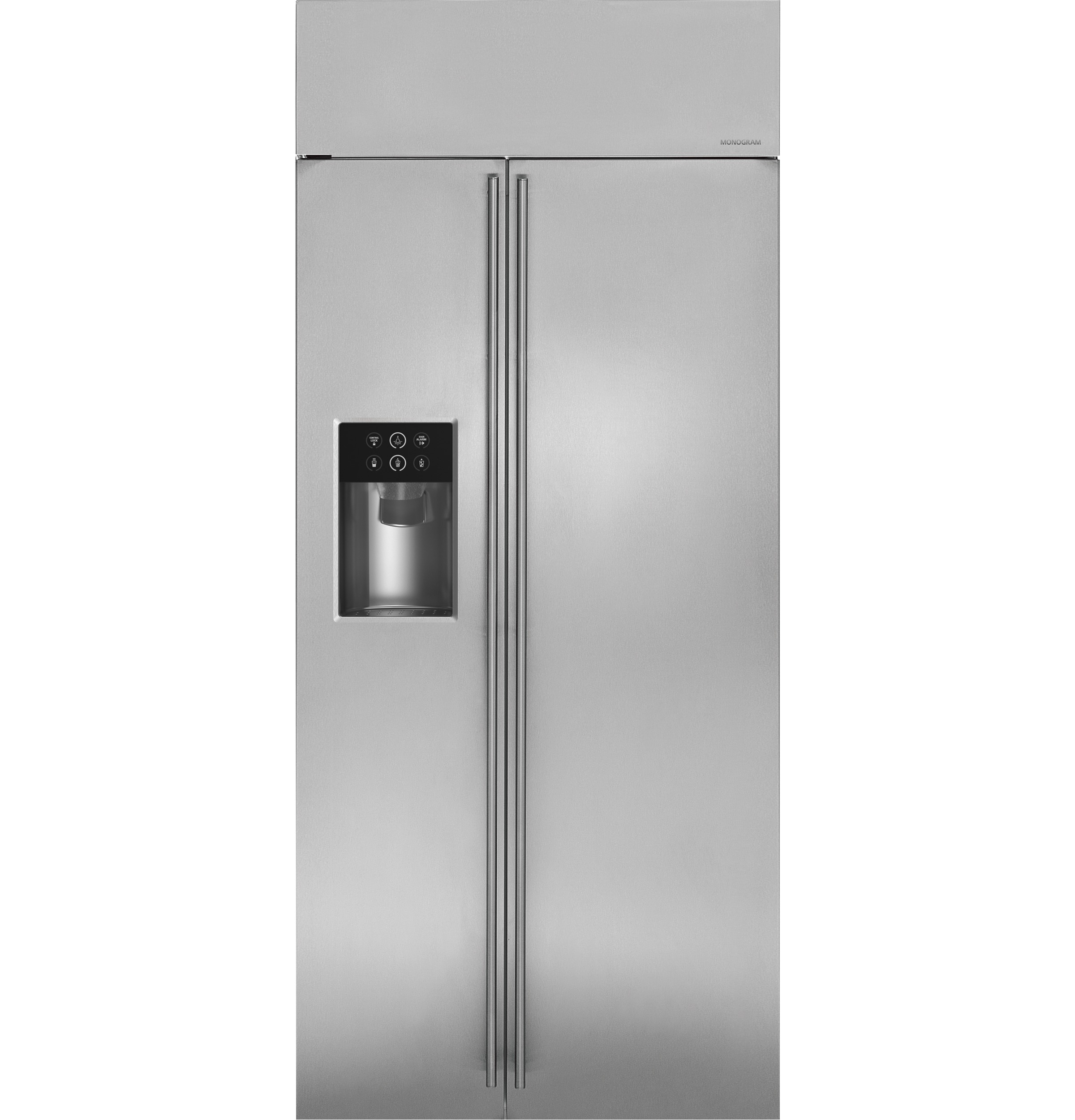 "Monogram Monogram 36"" Built-In Side-by-Side Refrigerator with Dispenser"
