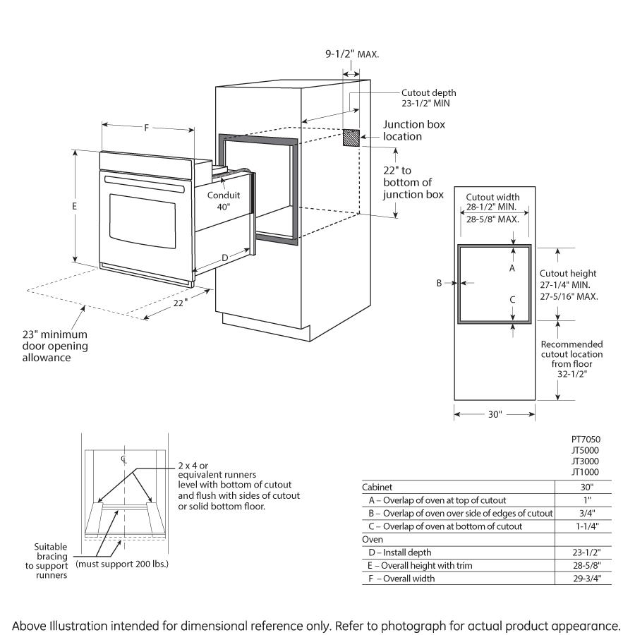 Model: JT5000DFBB | GE® 30