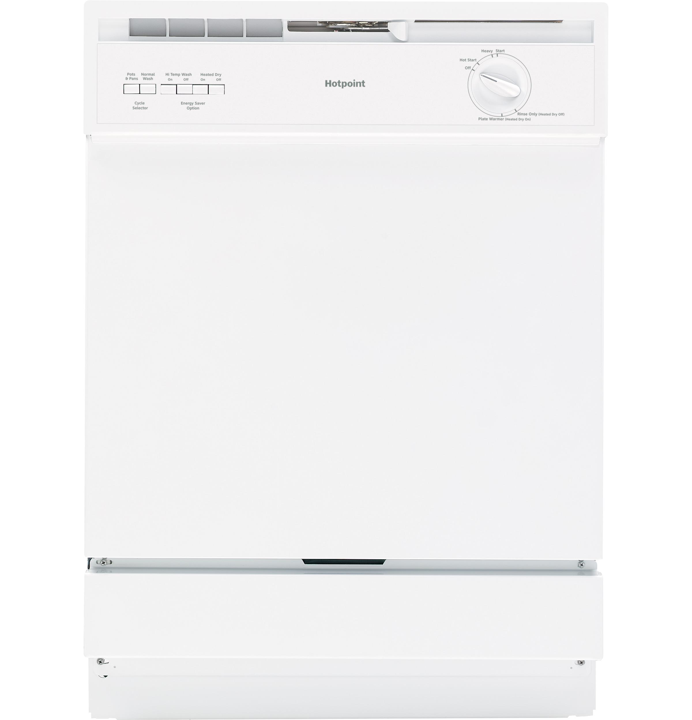 Model: HDA3600KWW | Hotpoint Hotpoint® Built-In Dishwasher